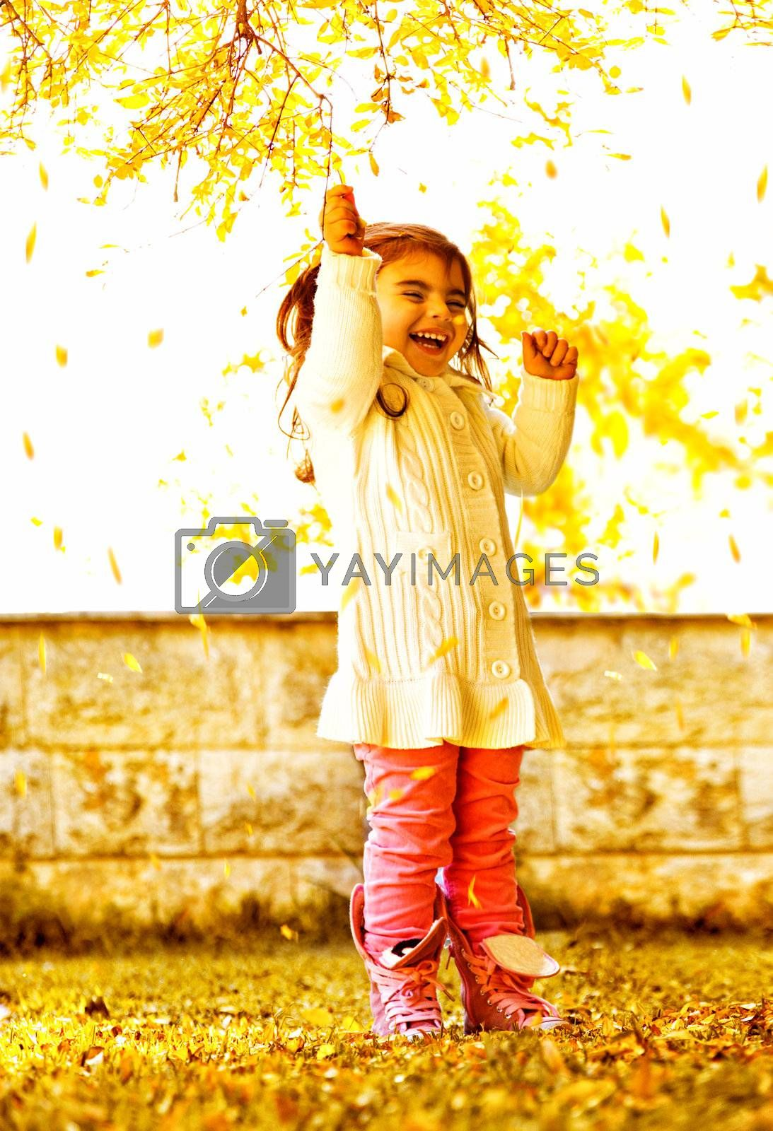 Royalty free image of Happy small girl  by Anna_Omelchenko