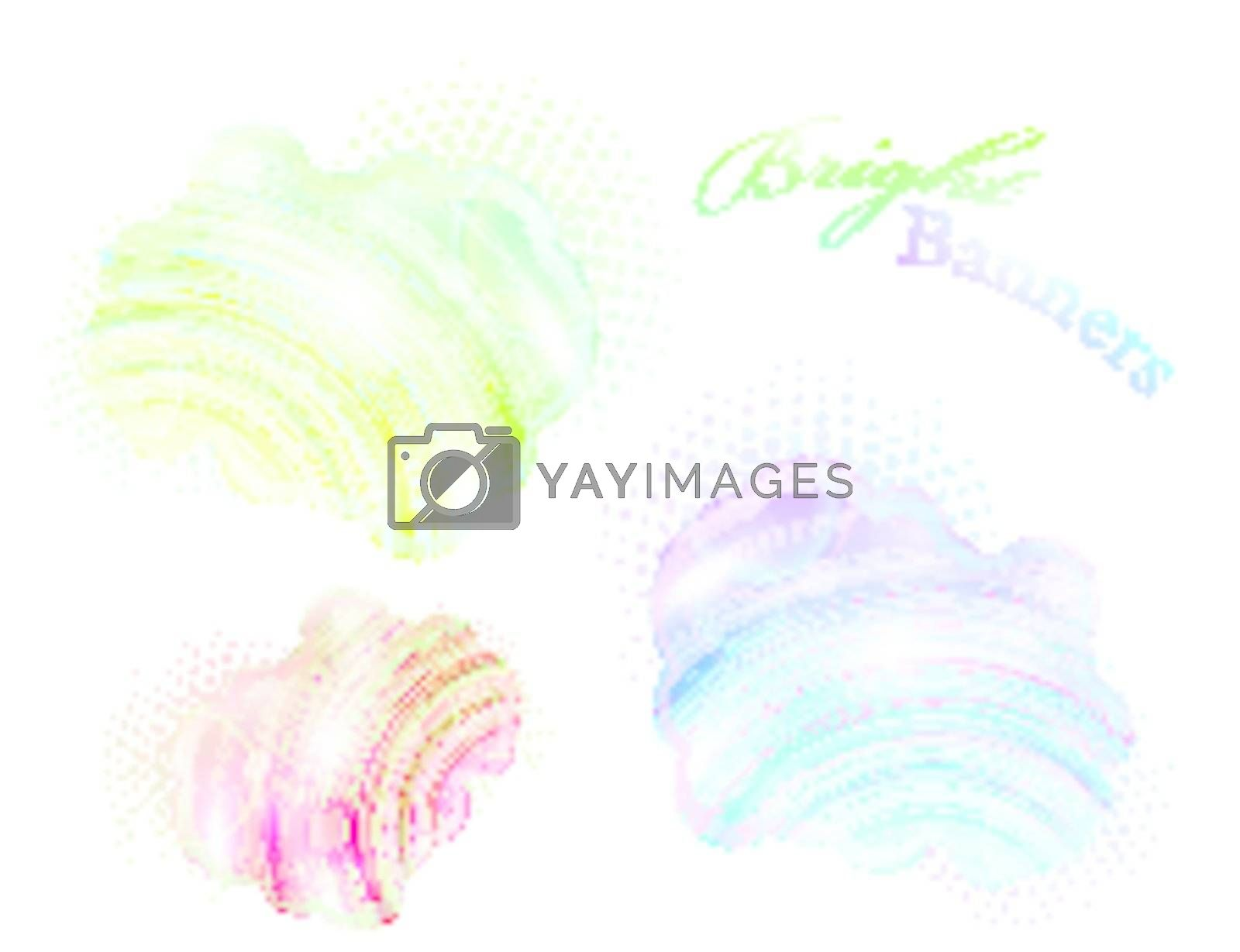 bright abstract banners, copyspace for your design