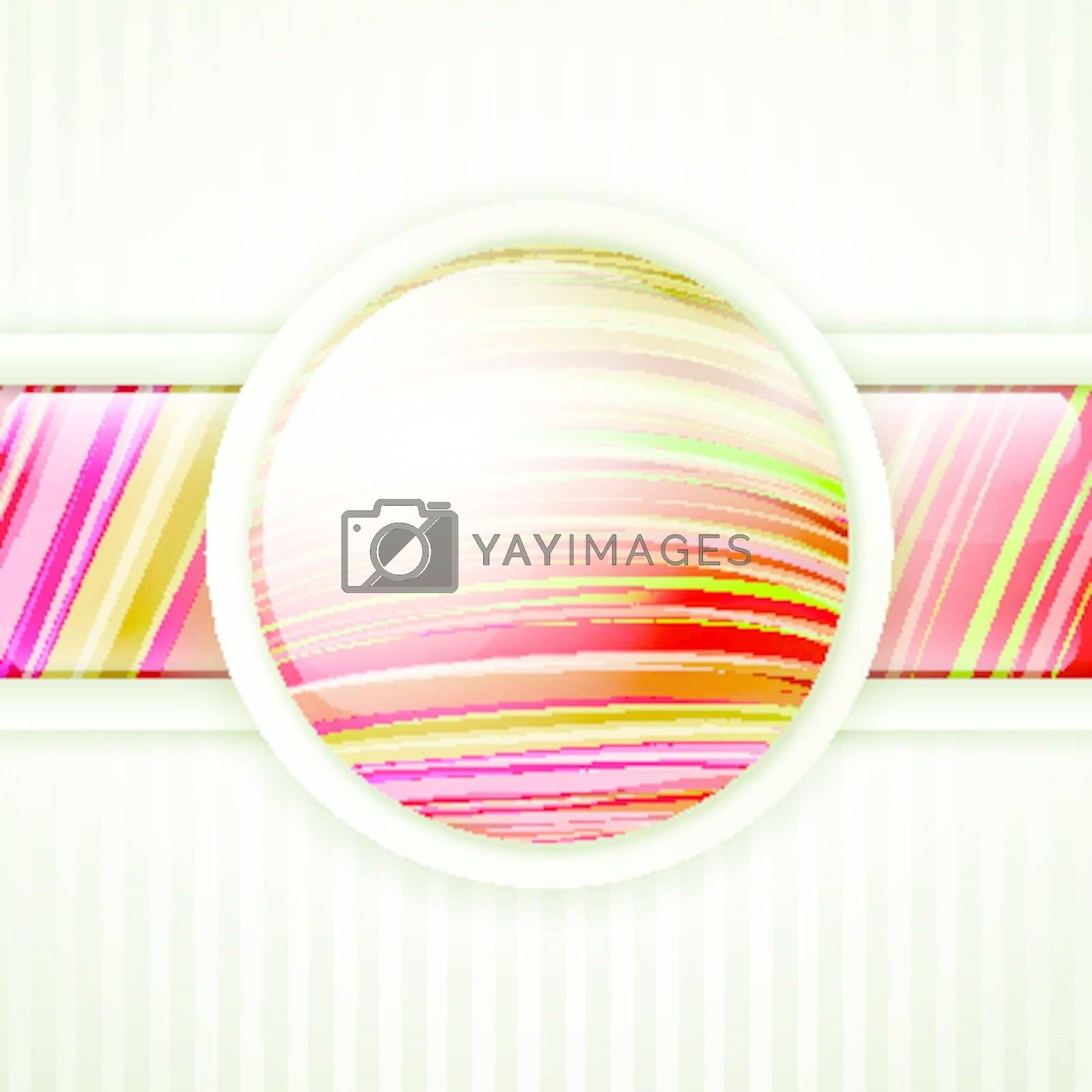 abstract bright round button frame for your advertising