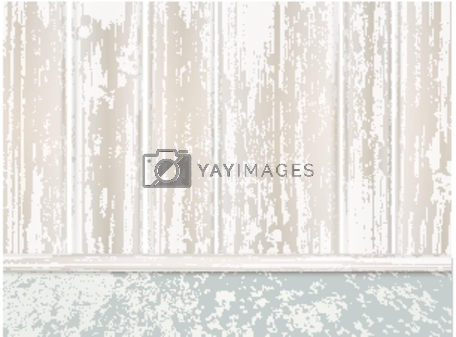 wooden fence at asphalt, copyspace