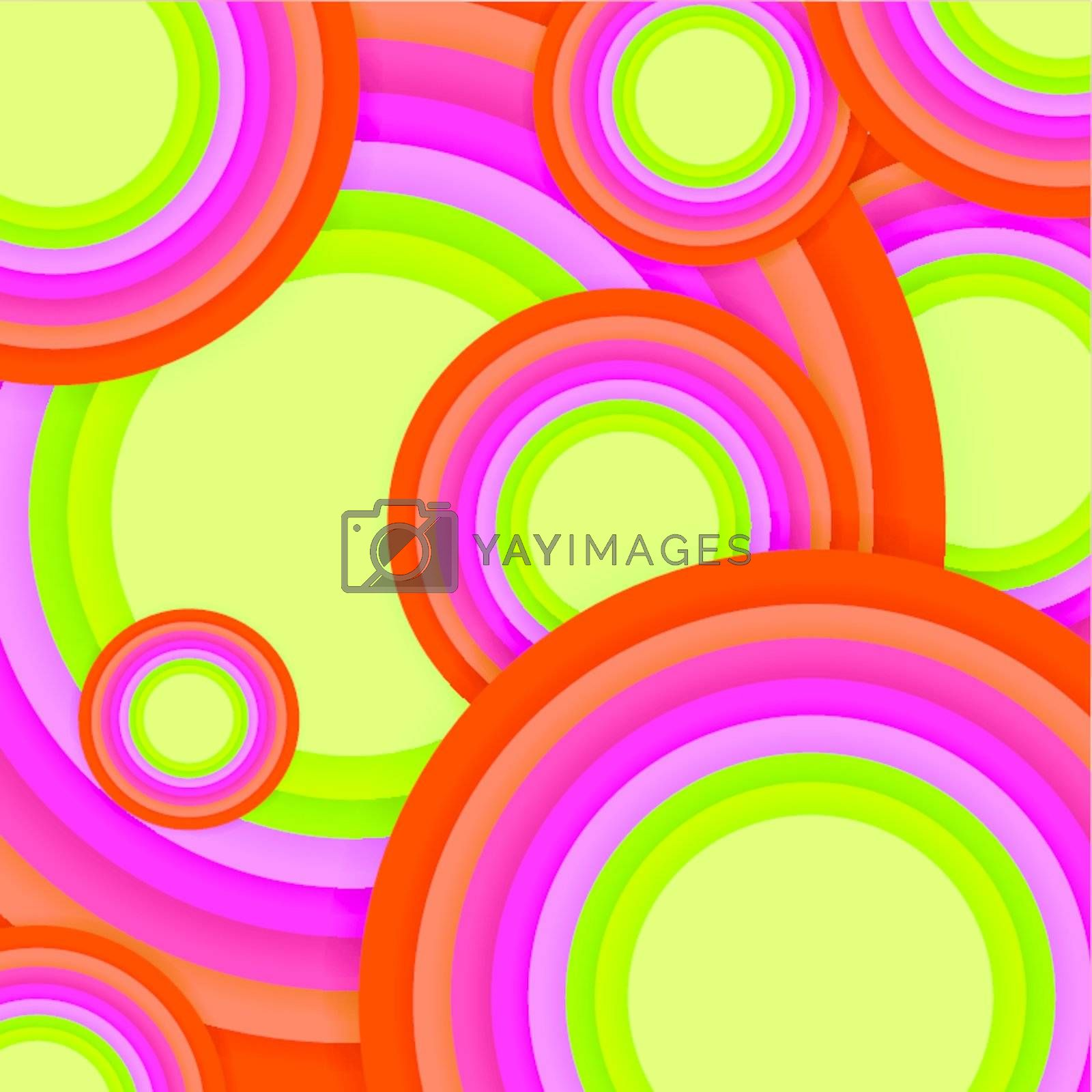 multicolored round shapes background
