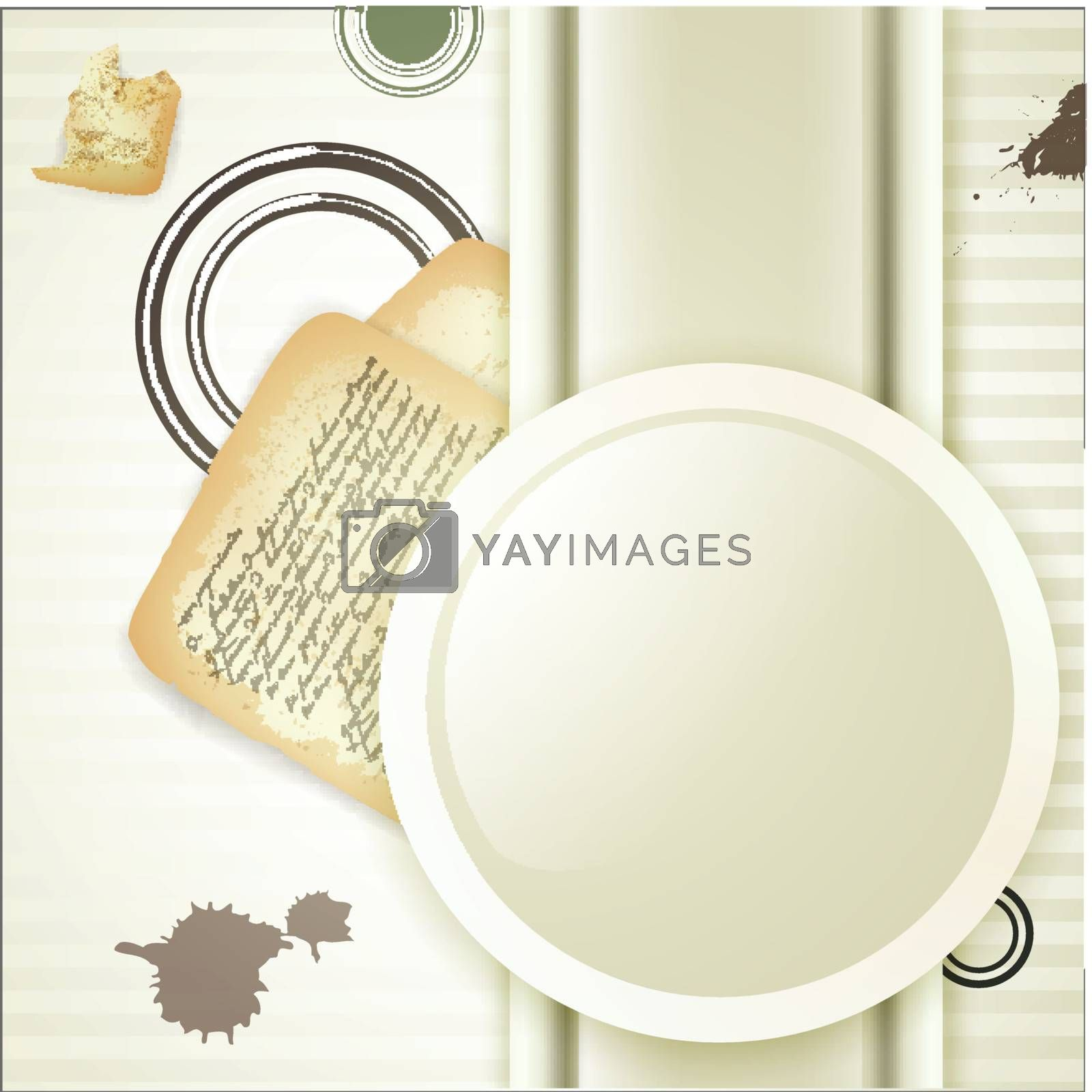 Royalty free image of Vintage composition with round frame and old letter by razvodovska