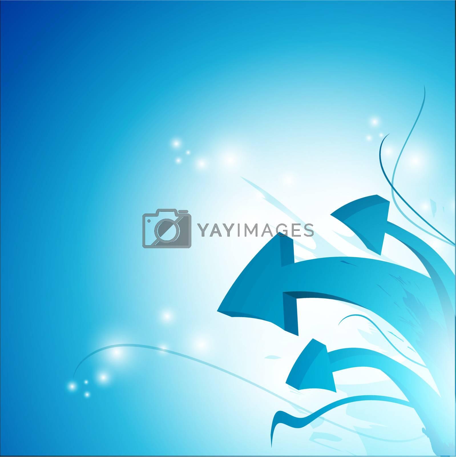 Royalty free image of arrow abstract background  by razvodovska
