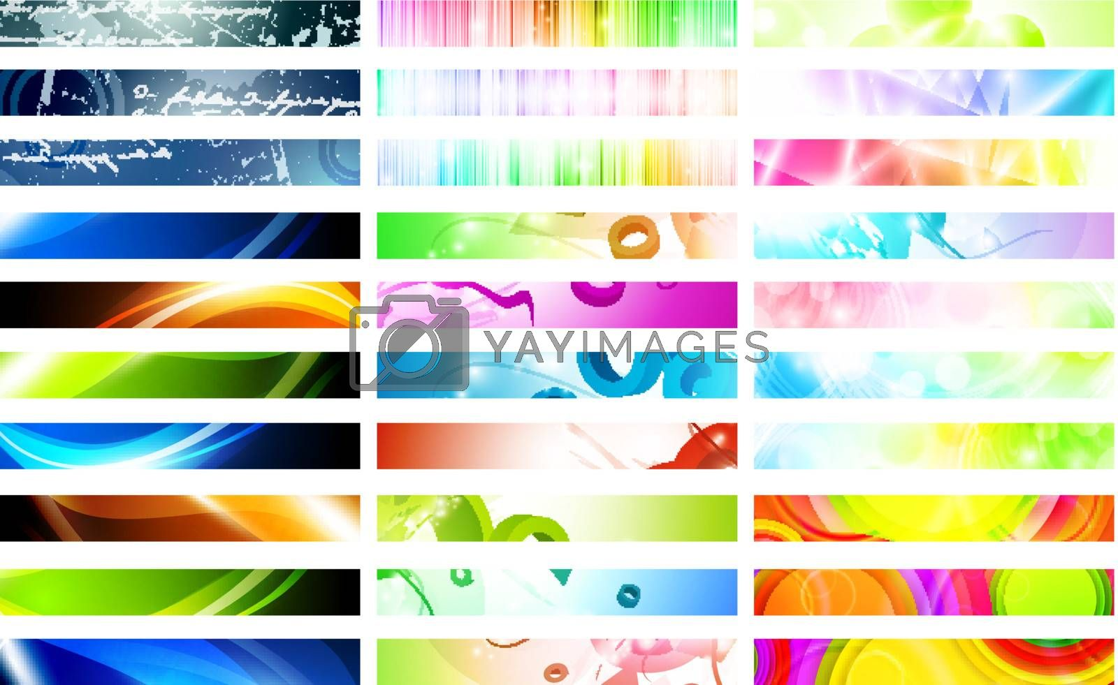 Royalty free image of banners by razvodovska
