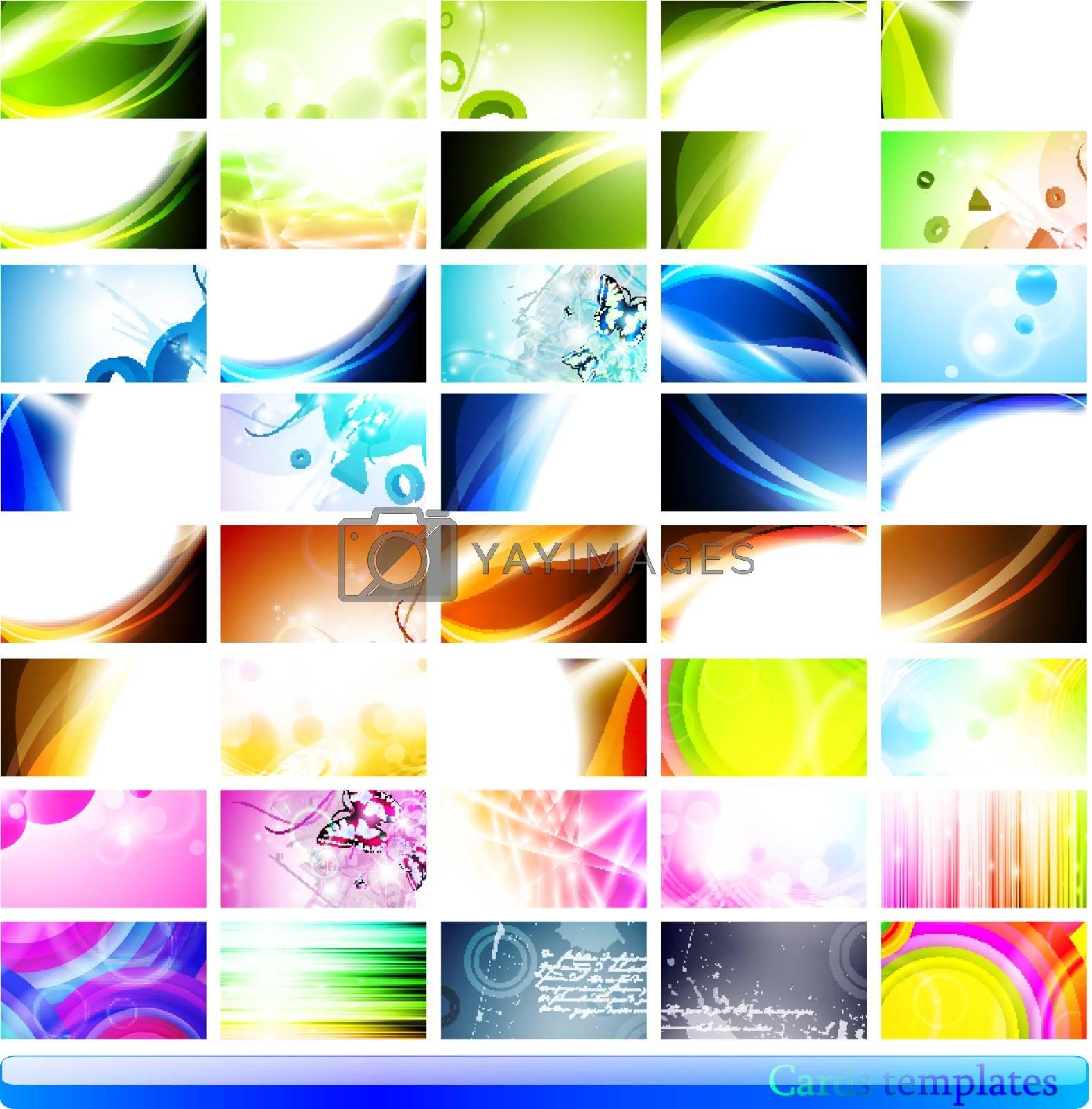 Royalty free image of business cards templates  by razvodovska