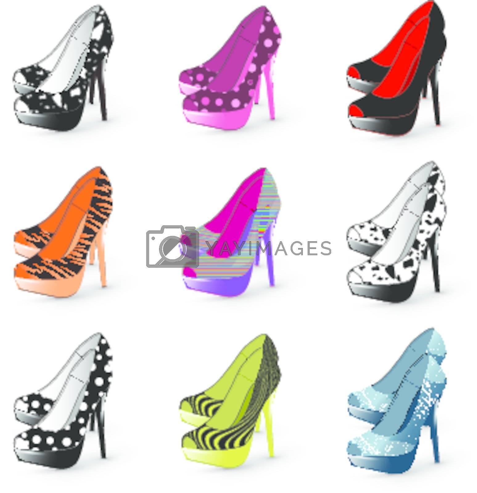 Royalty free image of high heel woman shoes  by razvodovska