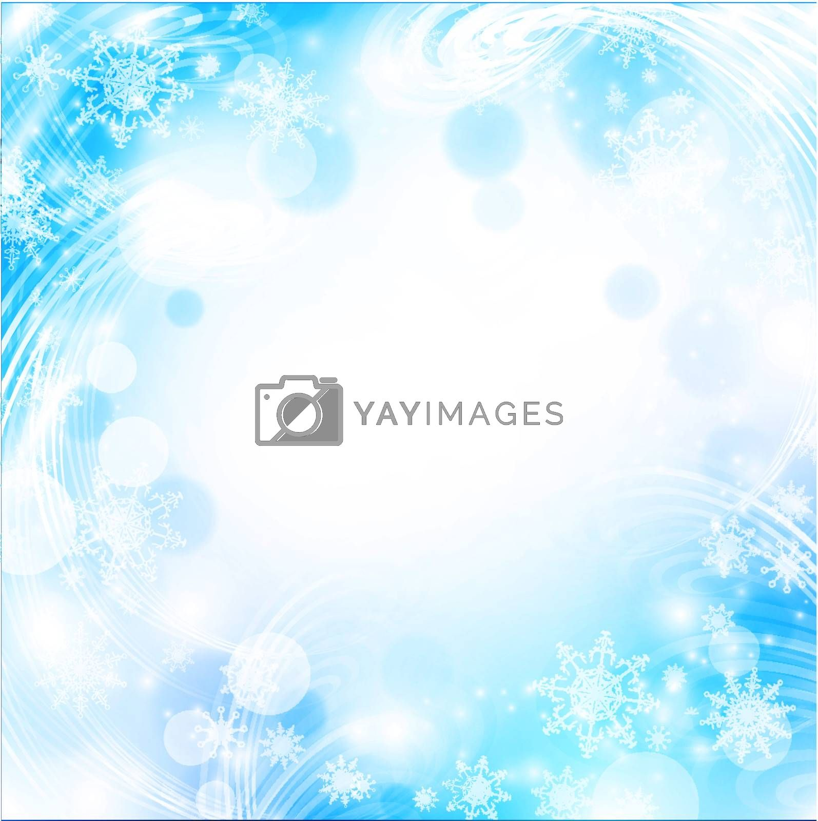 winter abstract background with copyspace for your text