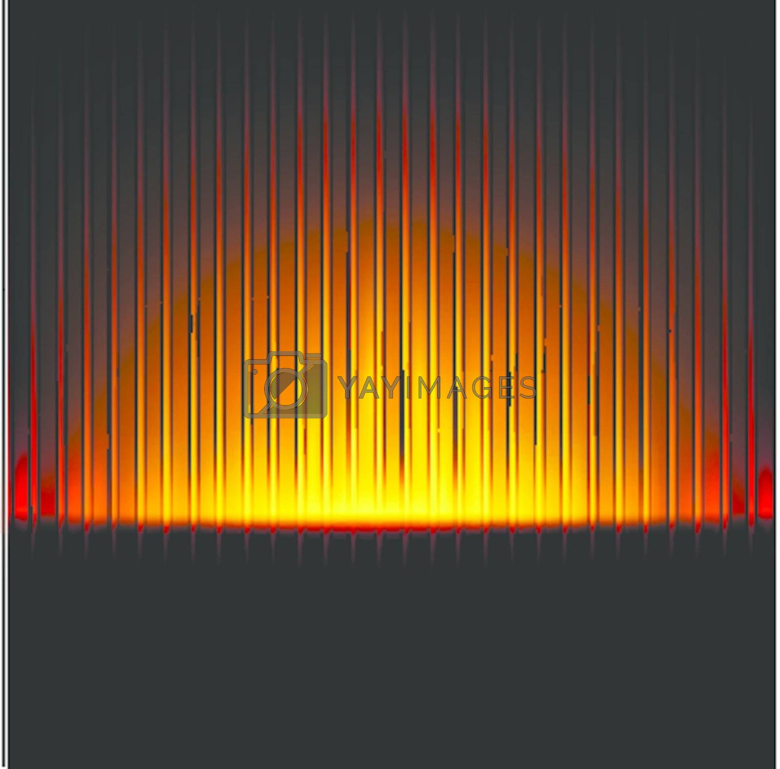 abstract background with bright golden magic lights