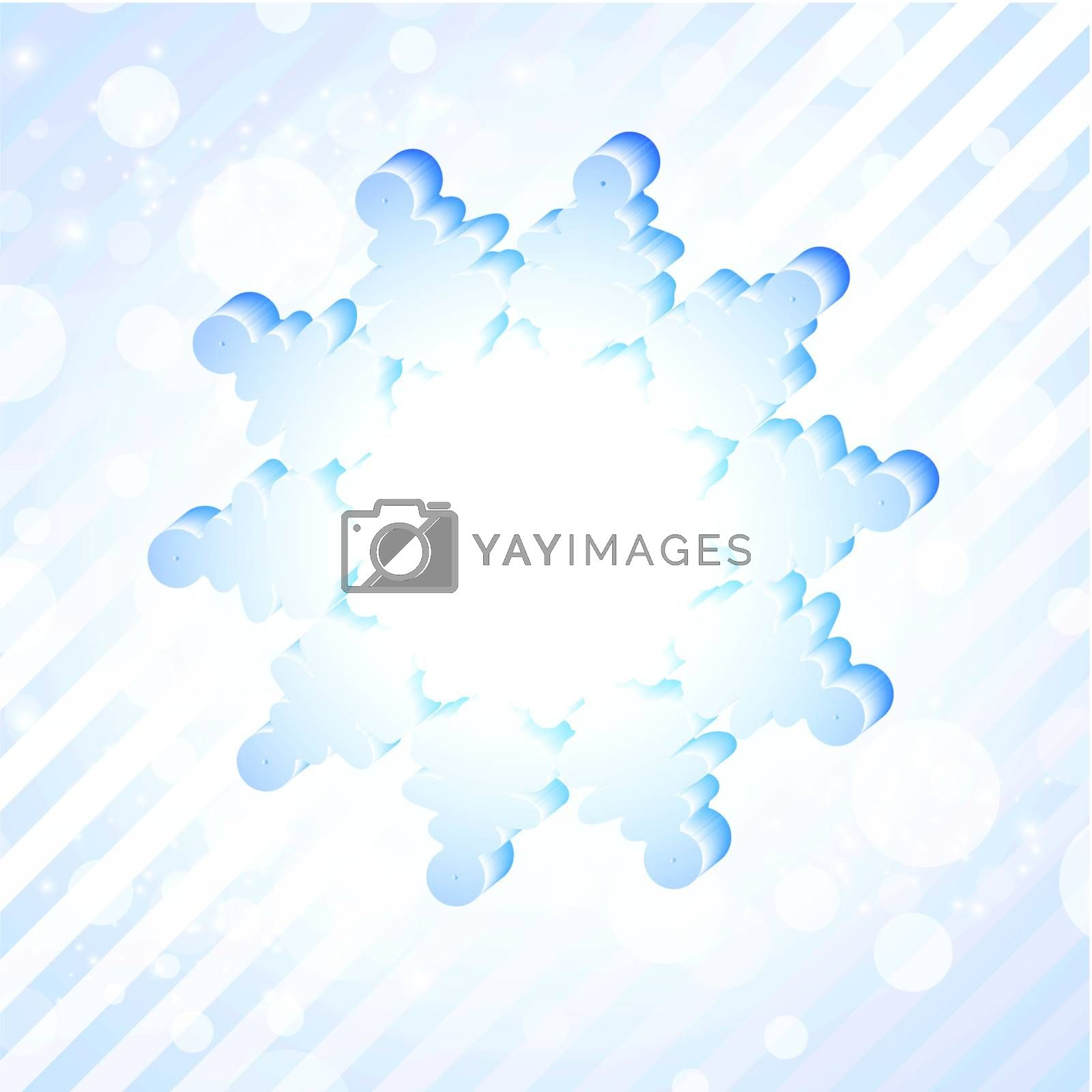 abstract snowflake with copyspace