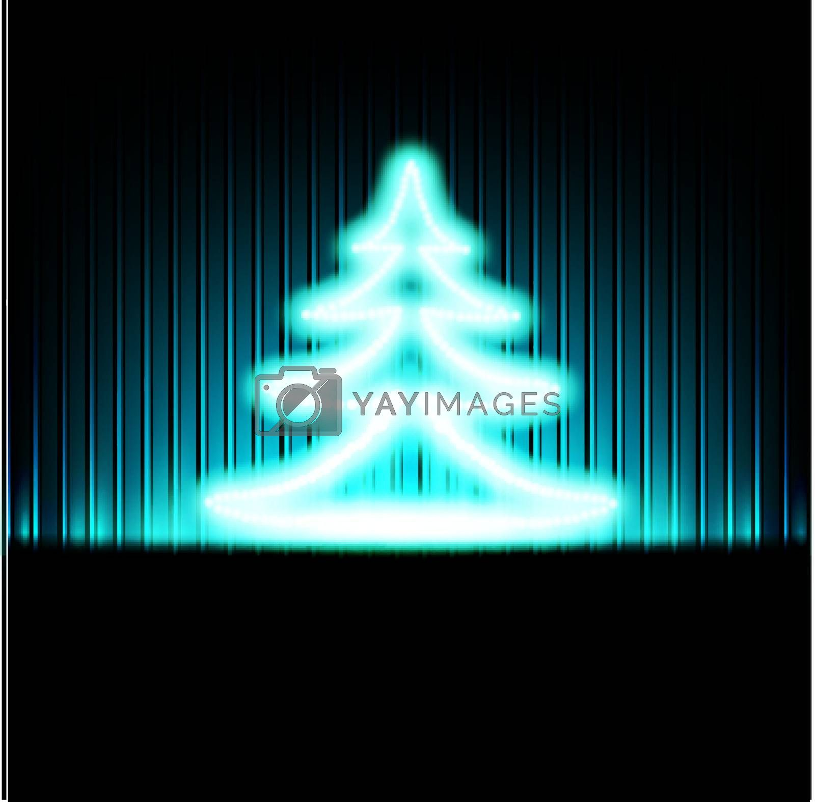 Winter holiday background with abstract Christmas tree