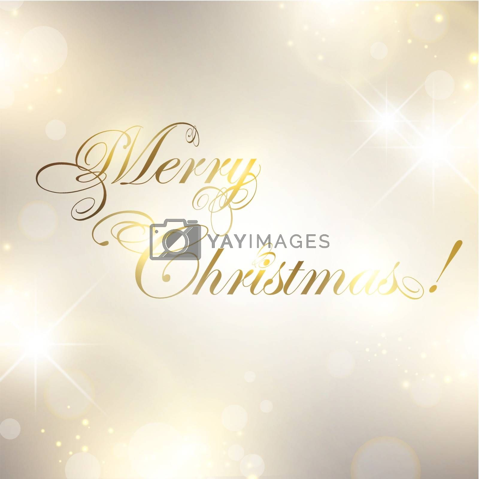 Christmas greetings over bright background with stars and lights