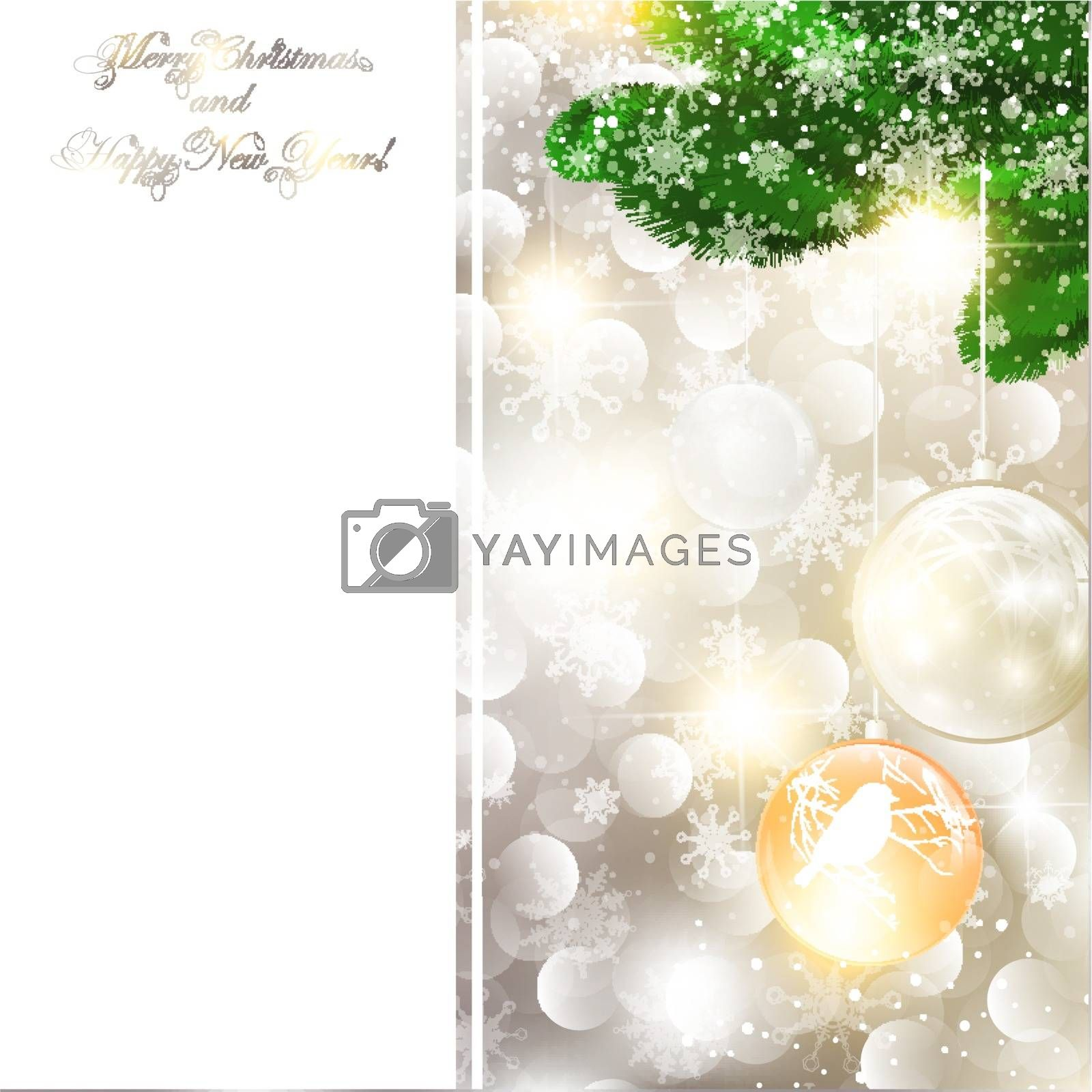 New Year and Christmas Greeting card, copyspace for your text
