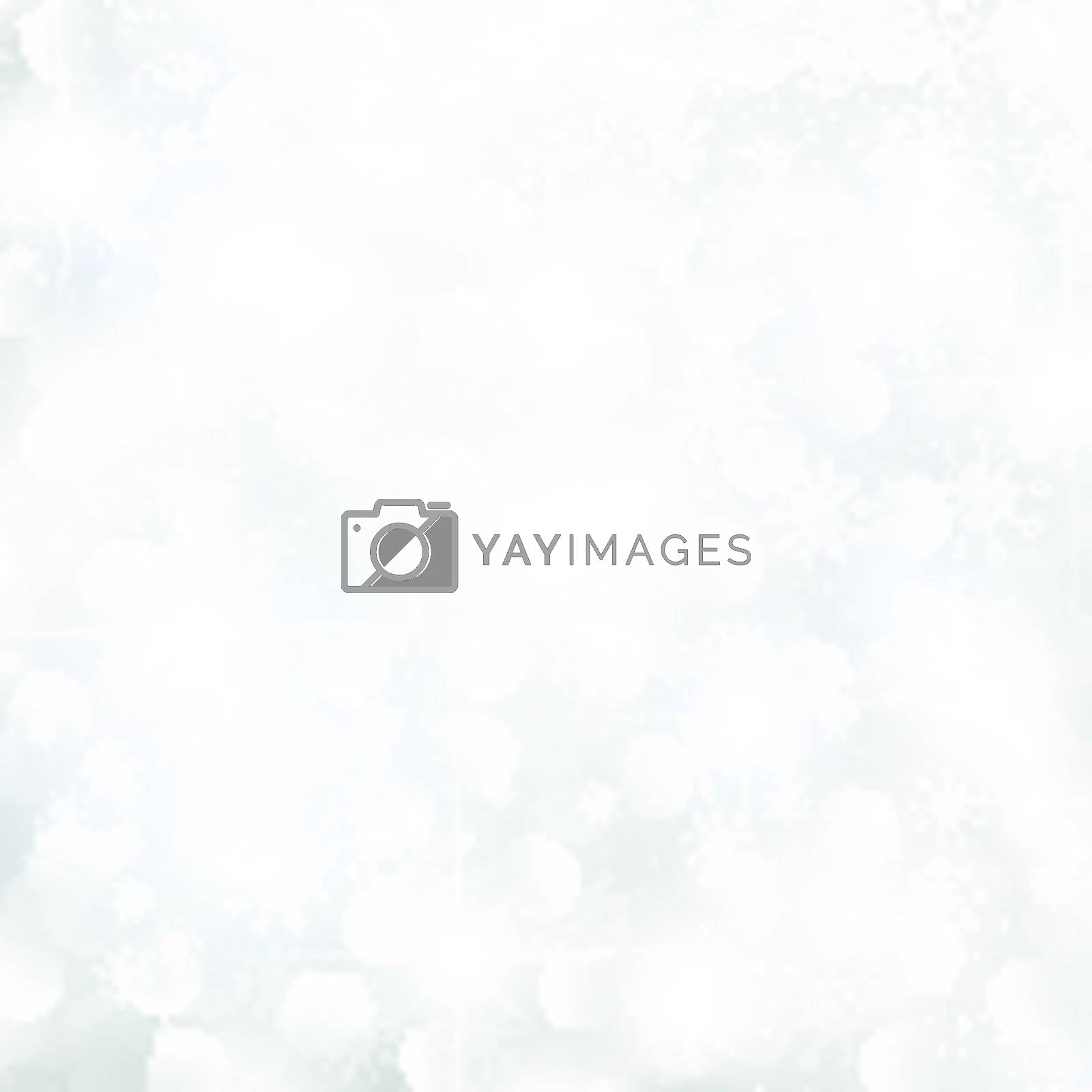 abstract glowing Christmas background with snowflakes and stars
