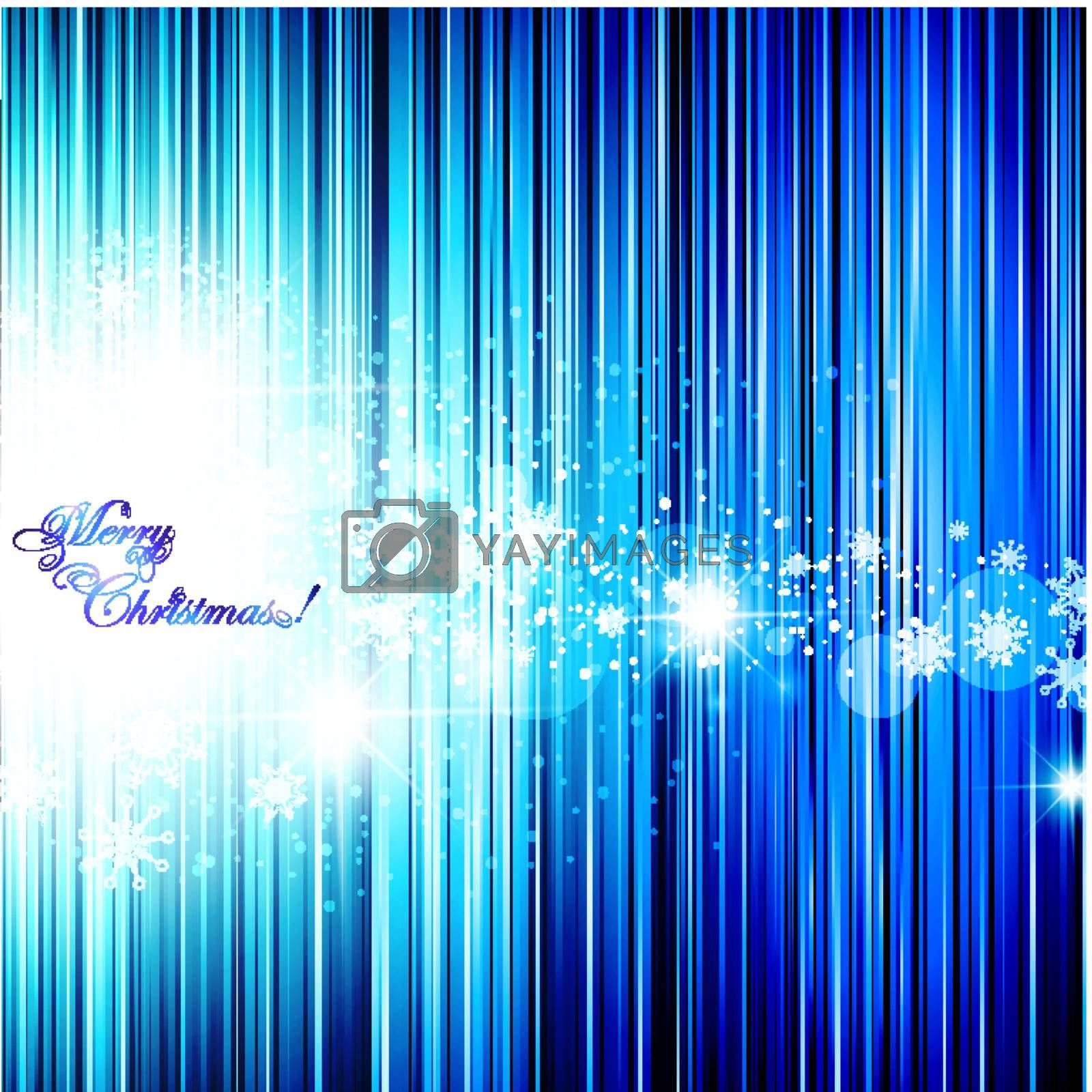 winter abstract background with stars and snowflakes