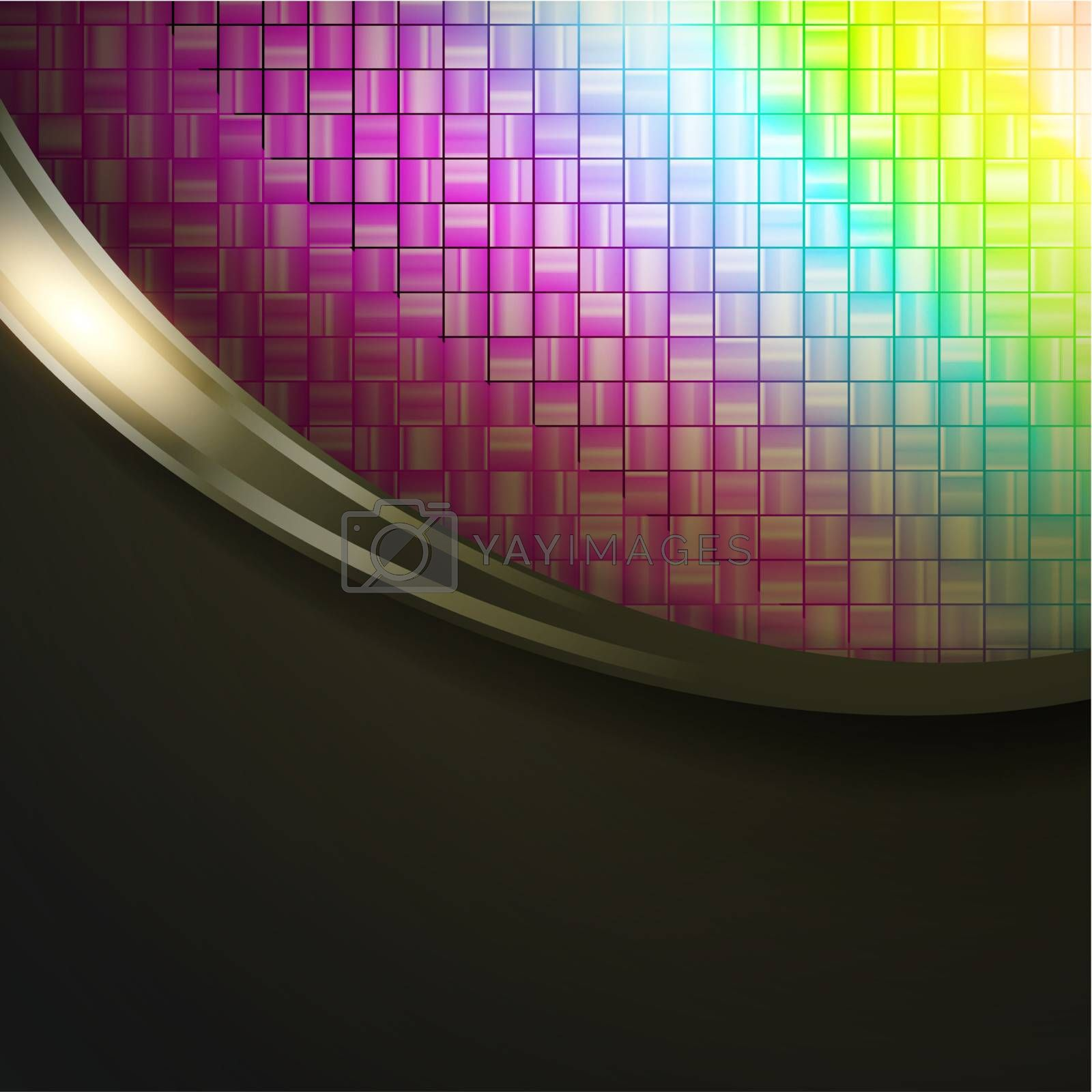multicolored absract mosic background in frame, copyspace for your text