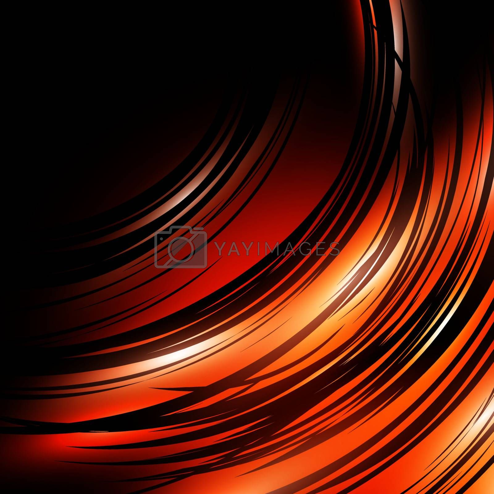 dark abstract background in orange and black