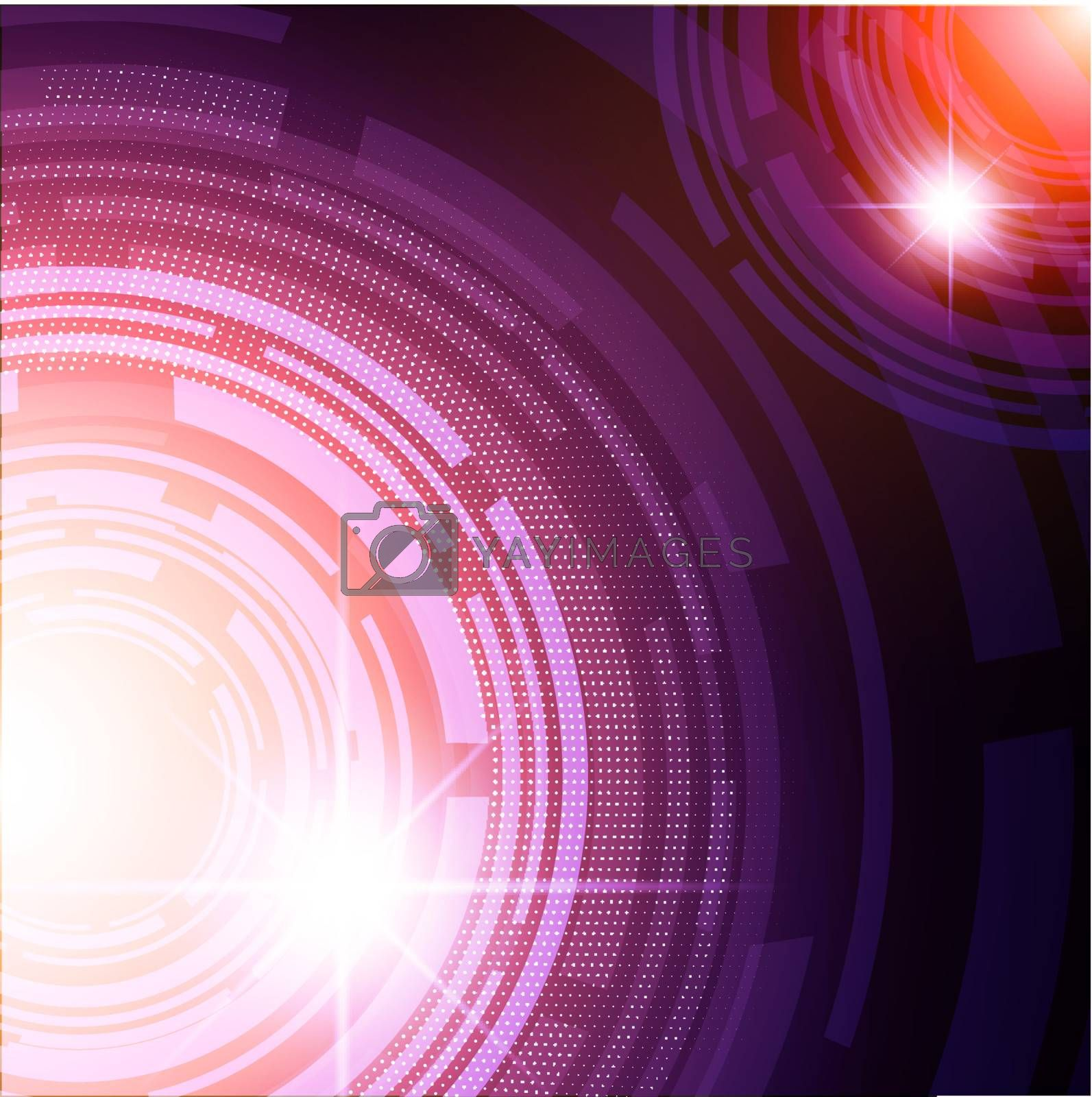 abstract bright tech background with round shapes
