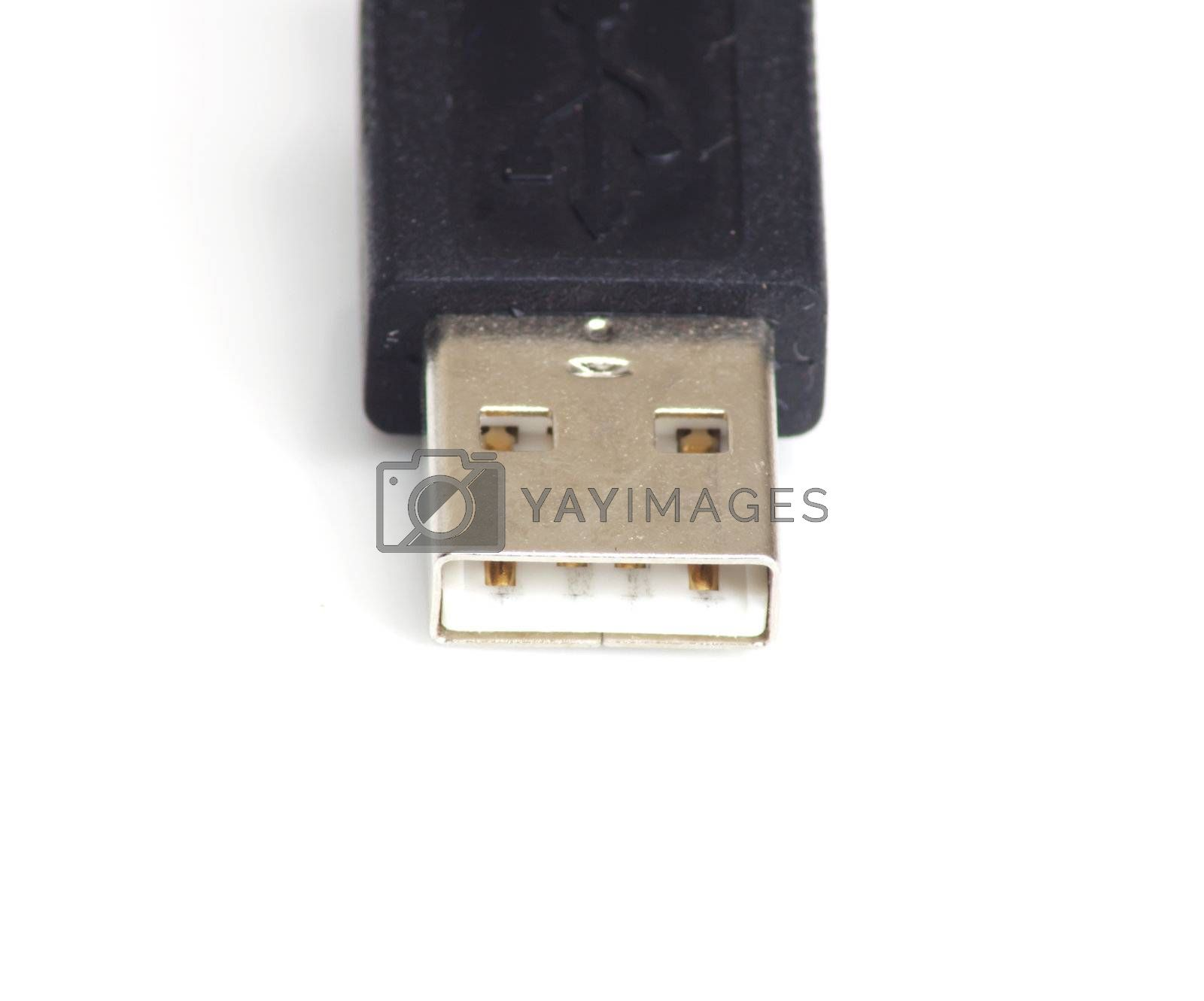 Usb cable isolated over white