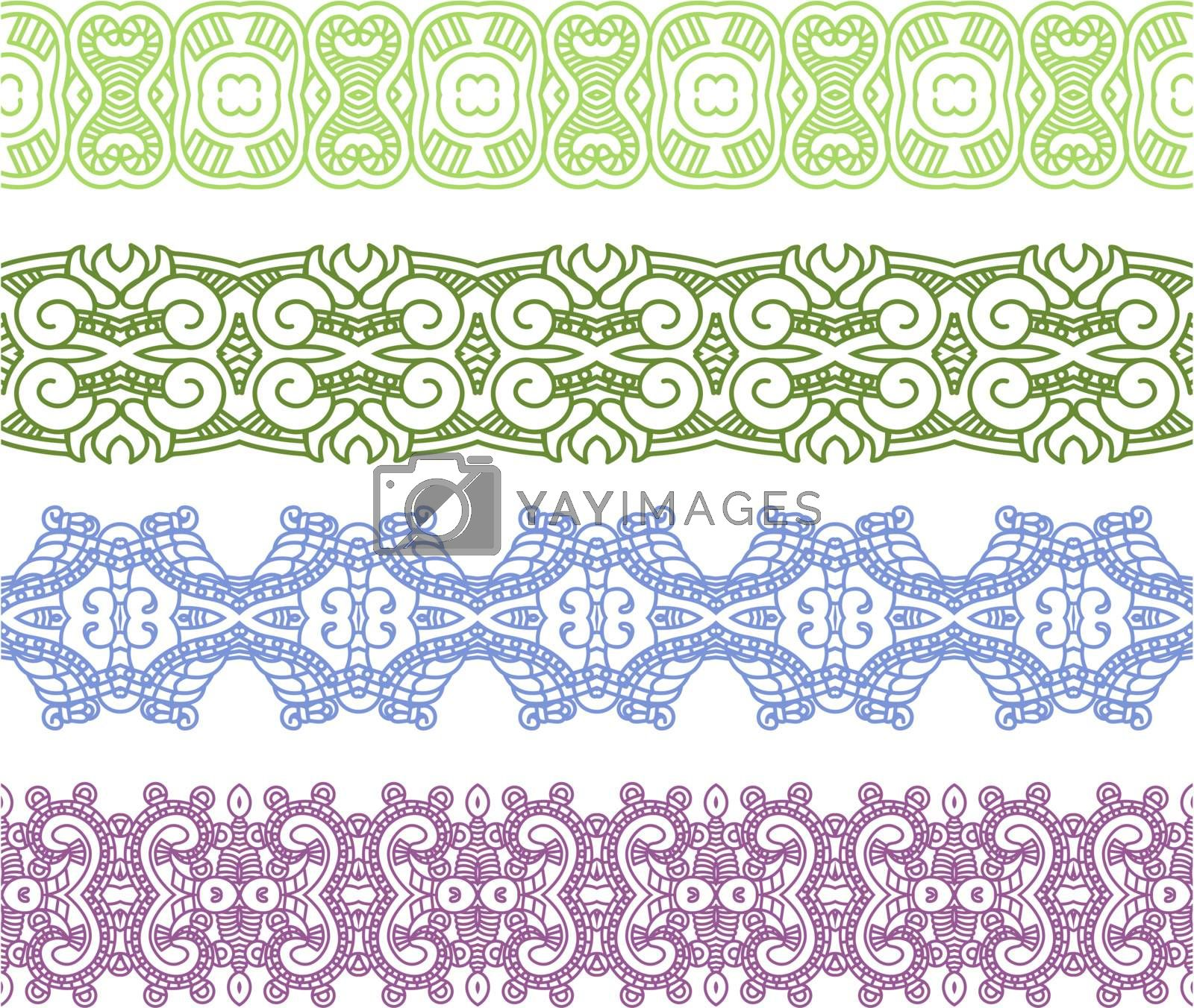 Set of borders with ornament. Interesting solutions for your design