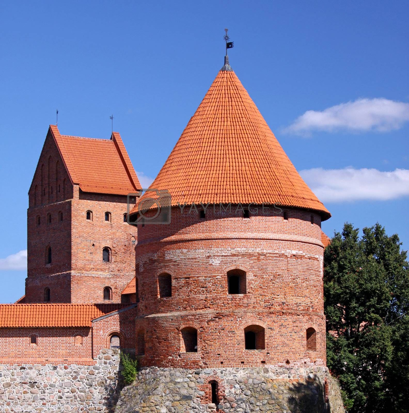 A picture of the medieval Trakai castle in Lithuania