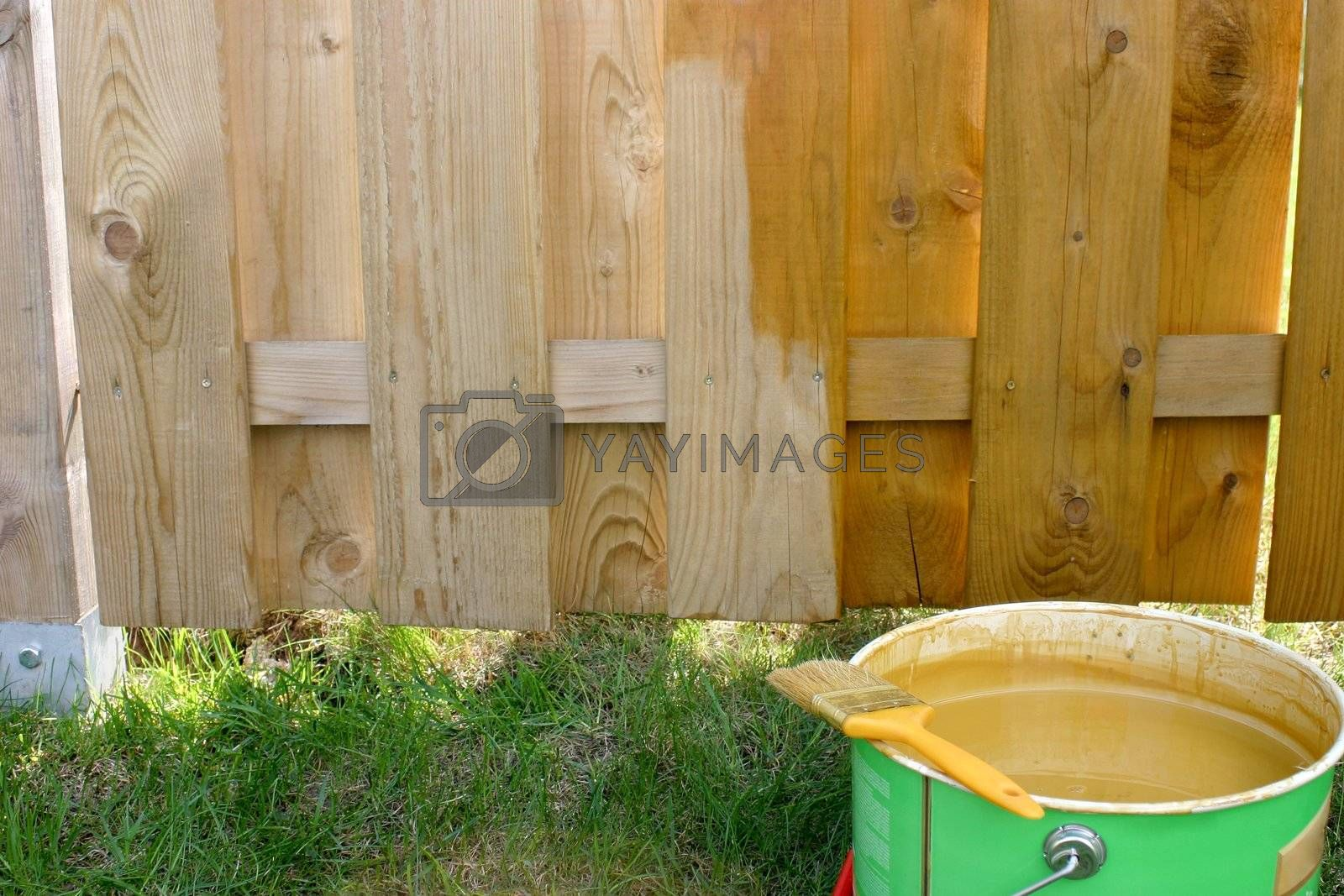 Painted fence by Cebas