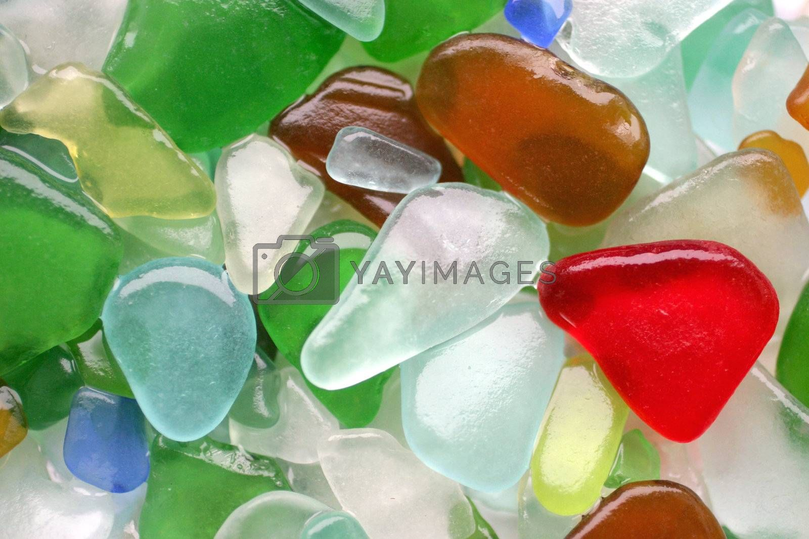 Colorful matted glass stones from Baltic sea Lithuania