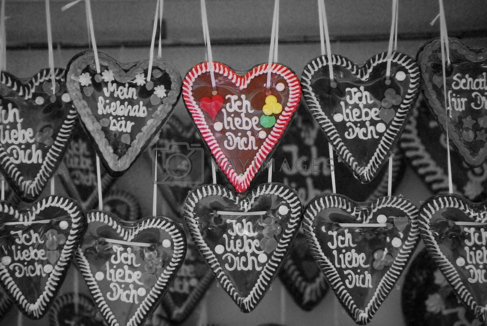 sweet heart with the text I love you from the market