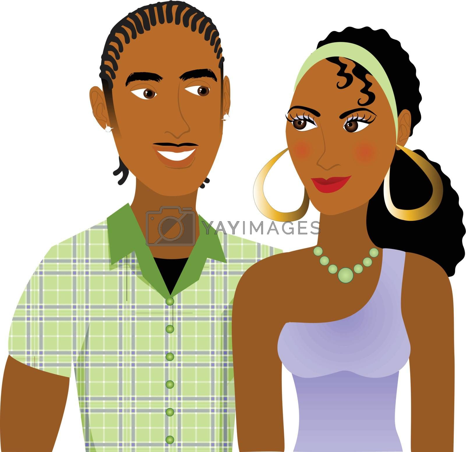Vector Illustration of a Couple in love.