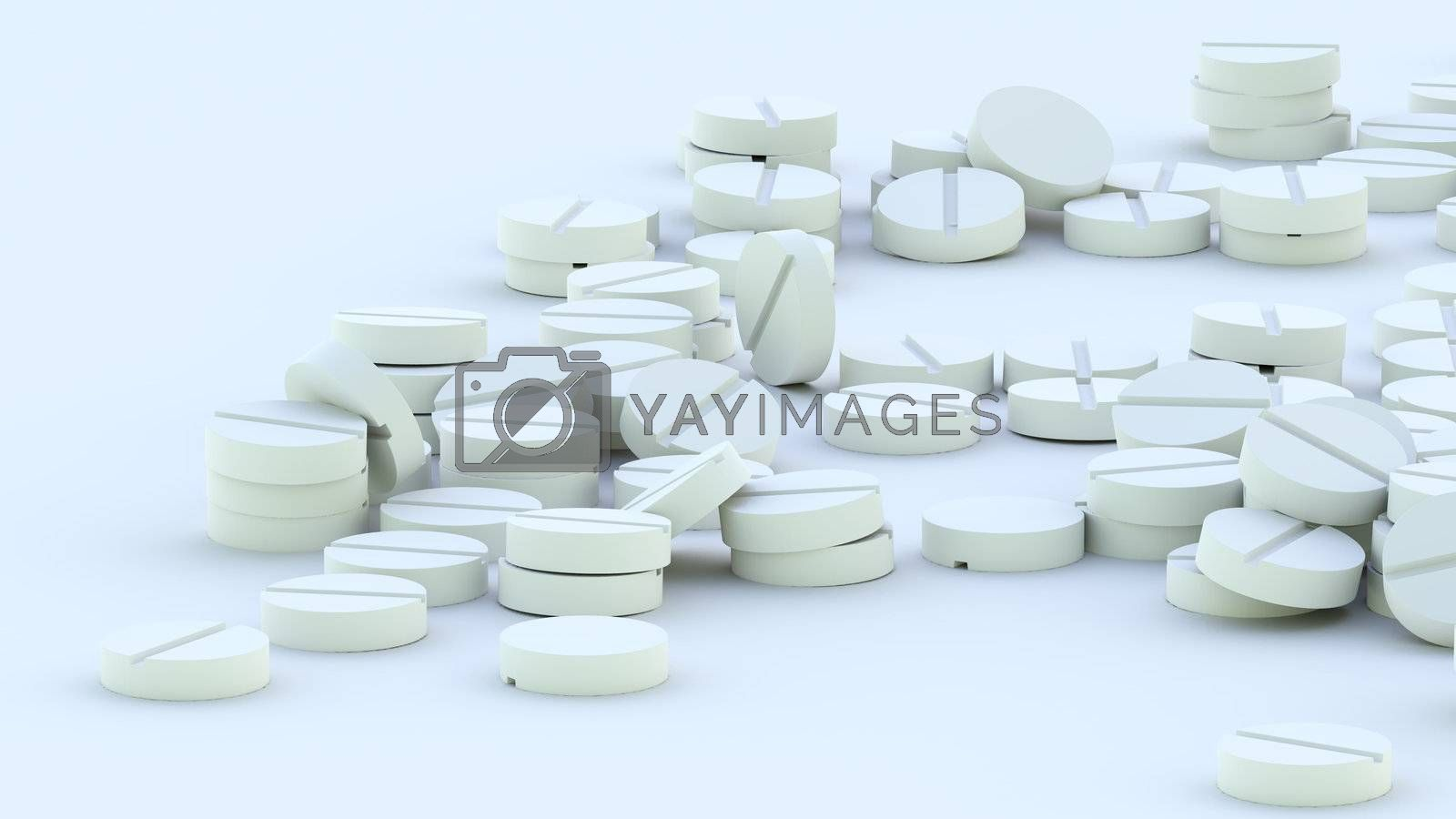 set of pills different destination for treatment people as a background for drugstore