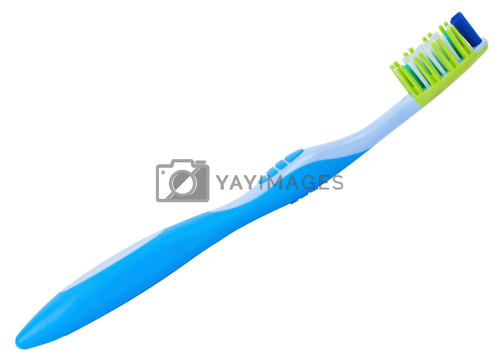 close-up tooth brush, isolated on white