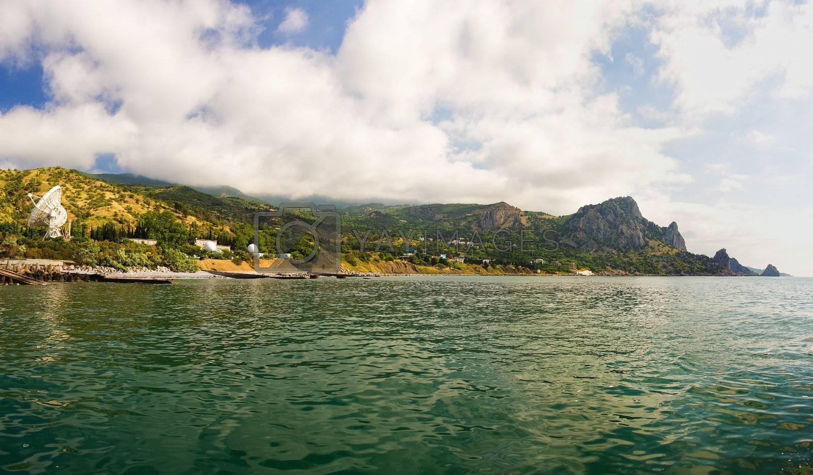 mountain landscape , panorama of Kaciveli