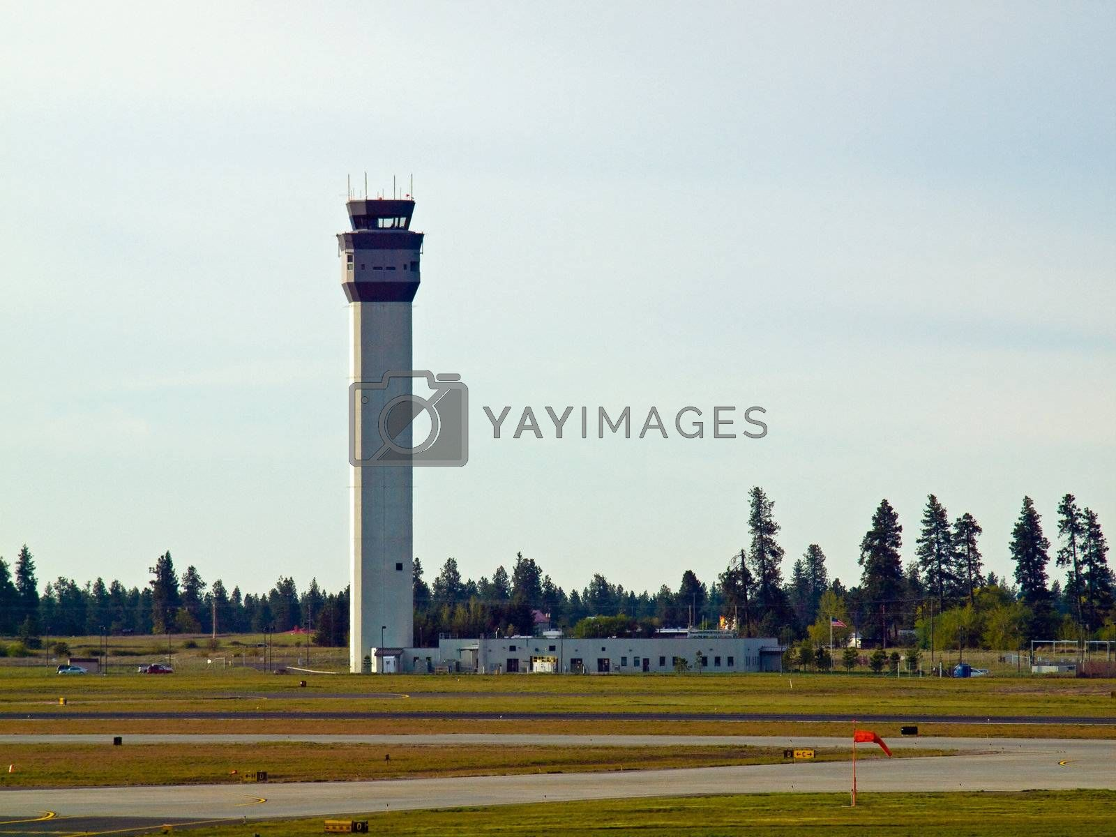 The Air Traffic Control Tower of a Modern Airport