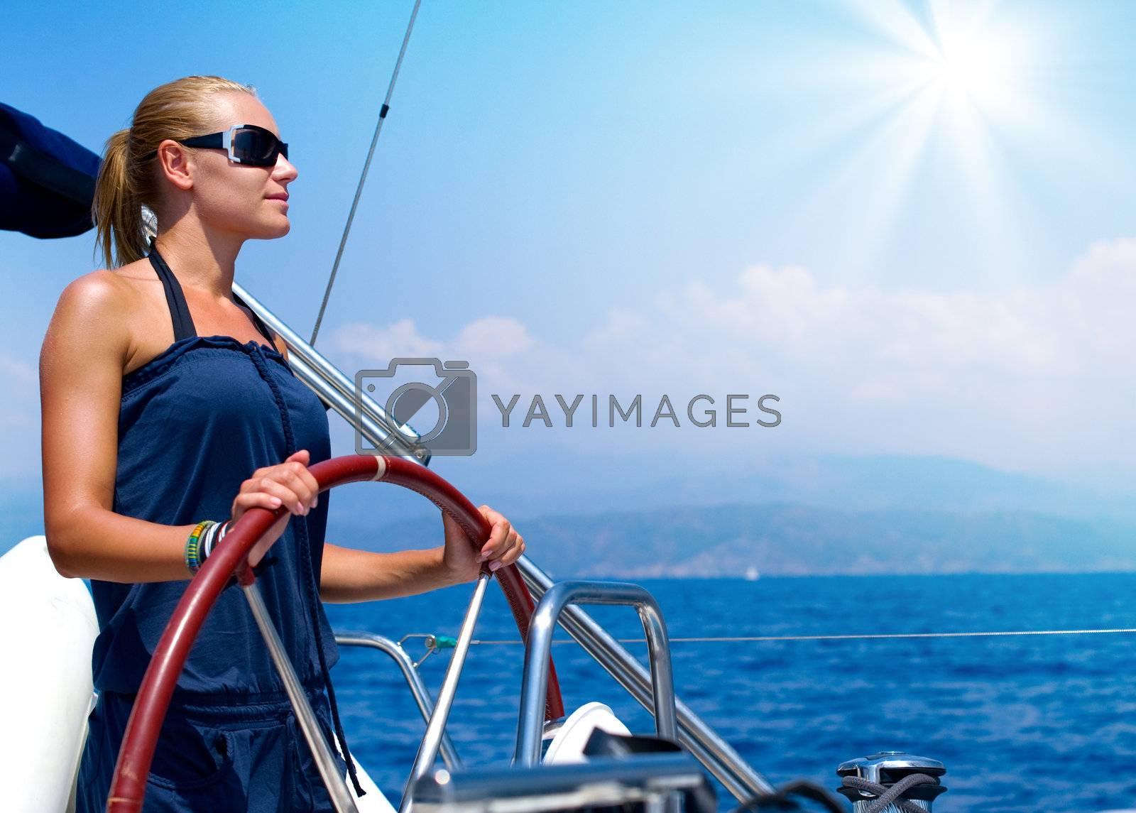 Yacht Sailing by SubbotinaA