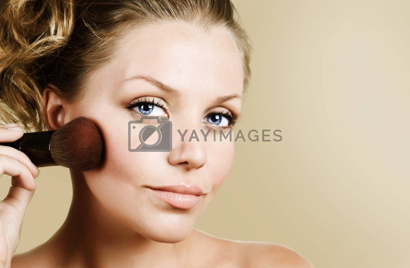 Beautiful Young Woman Face. Make-up Concept  by SubbotinaA