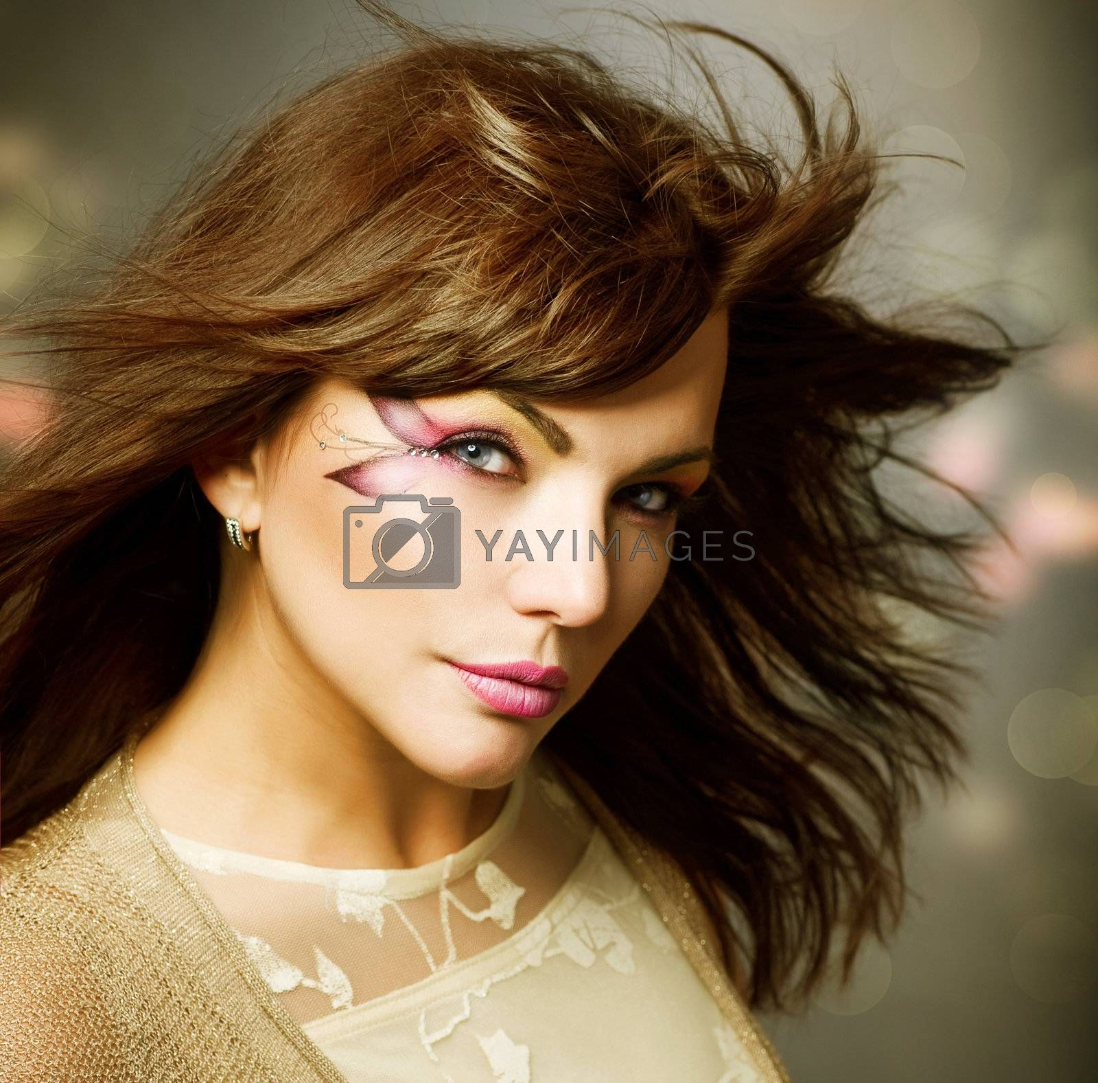 Beautiful Fashion Girl portrait. Makeup