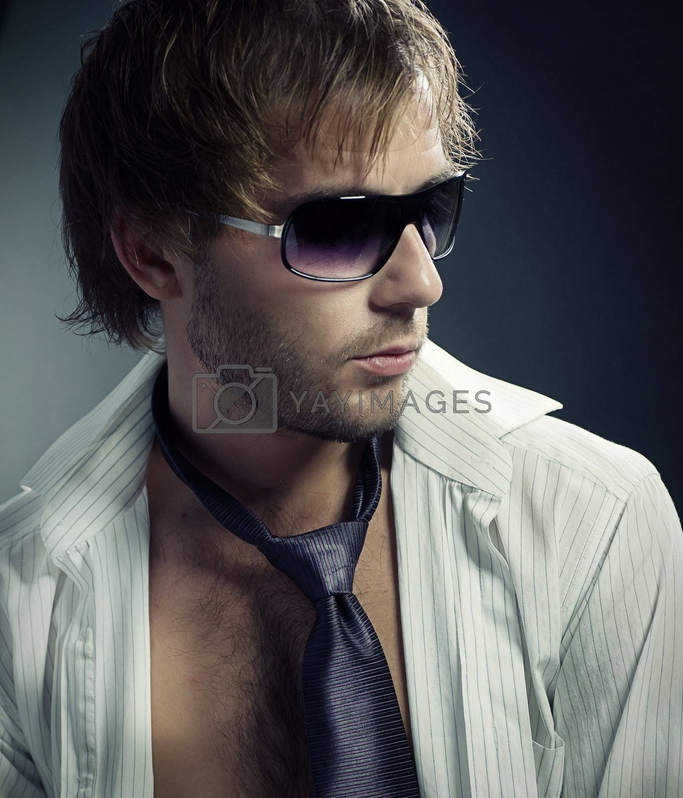 Stylish fashion young Man portrait