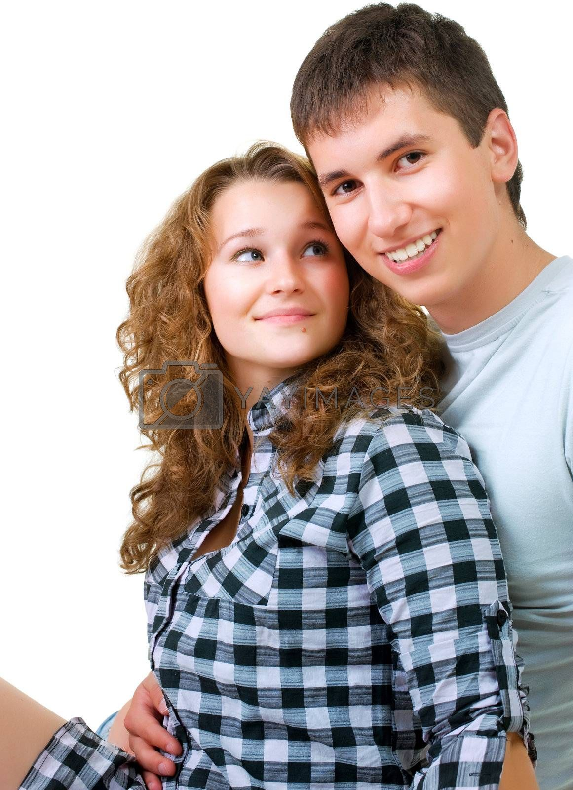 Healthy Young Couple Portrait by Subbotina Anna
