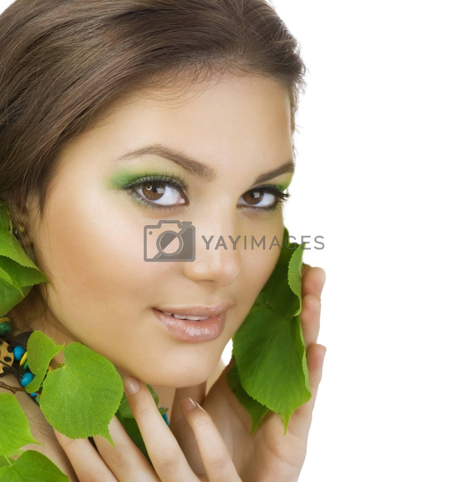 Beautiful Young Woman Portrait. Healthy Skin