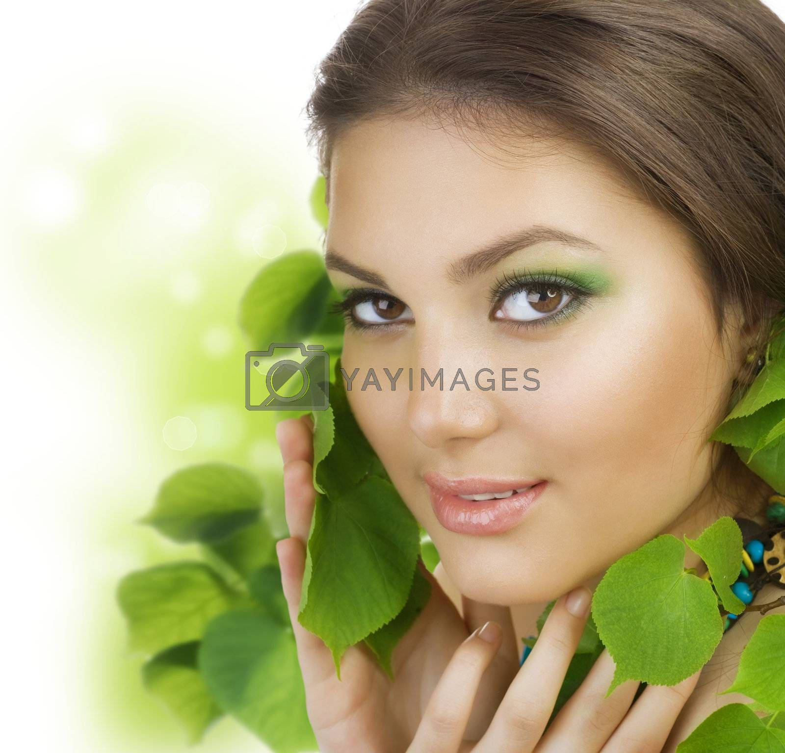 Spring Beauty Outdoors. Perfect Skin