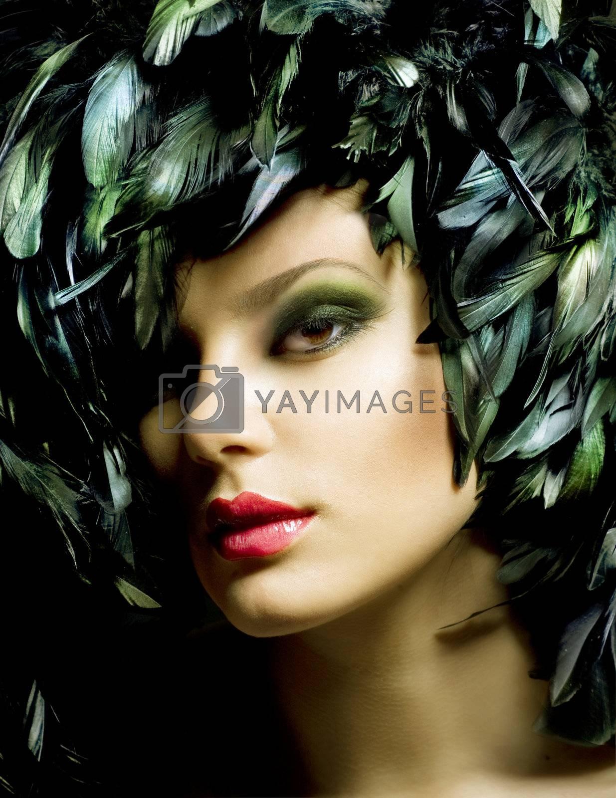 Fashion Art Portrait. Makeup