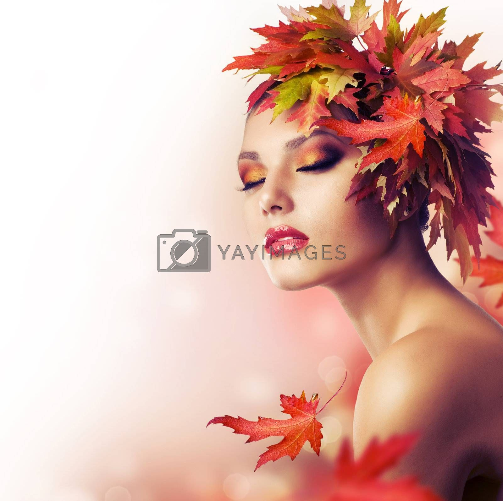Autumn Beauty Fashion Portrait