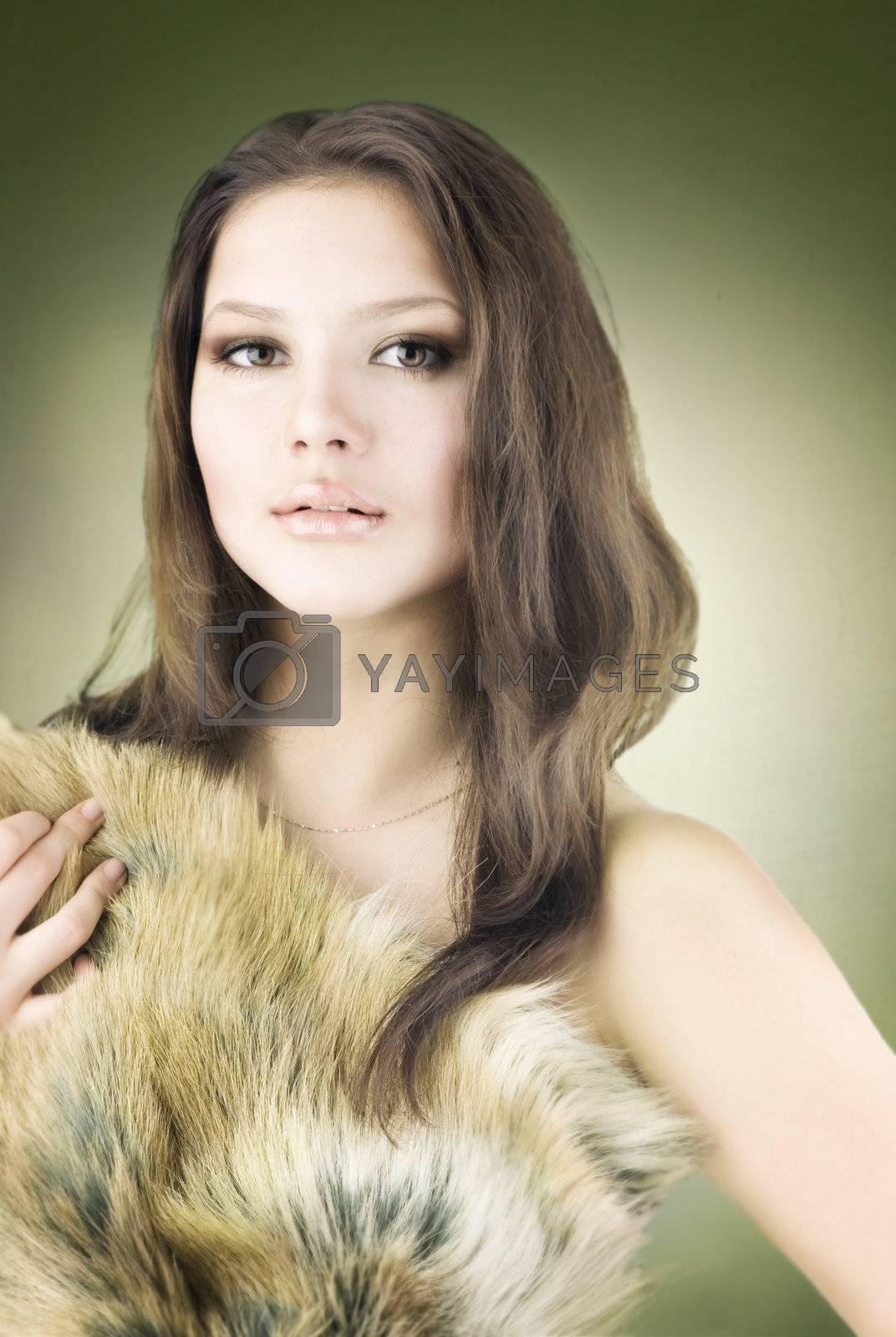 Beautiful Wild Girl Portrait