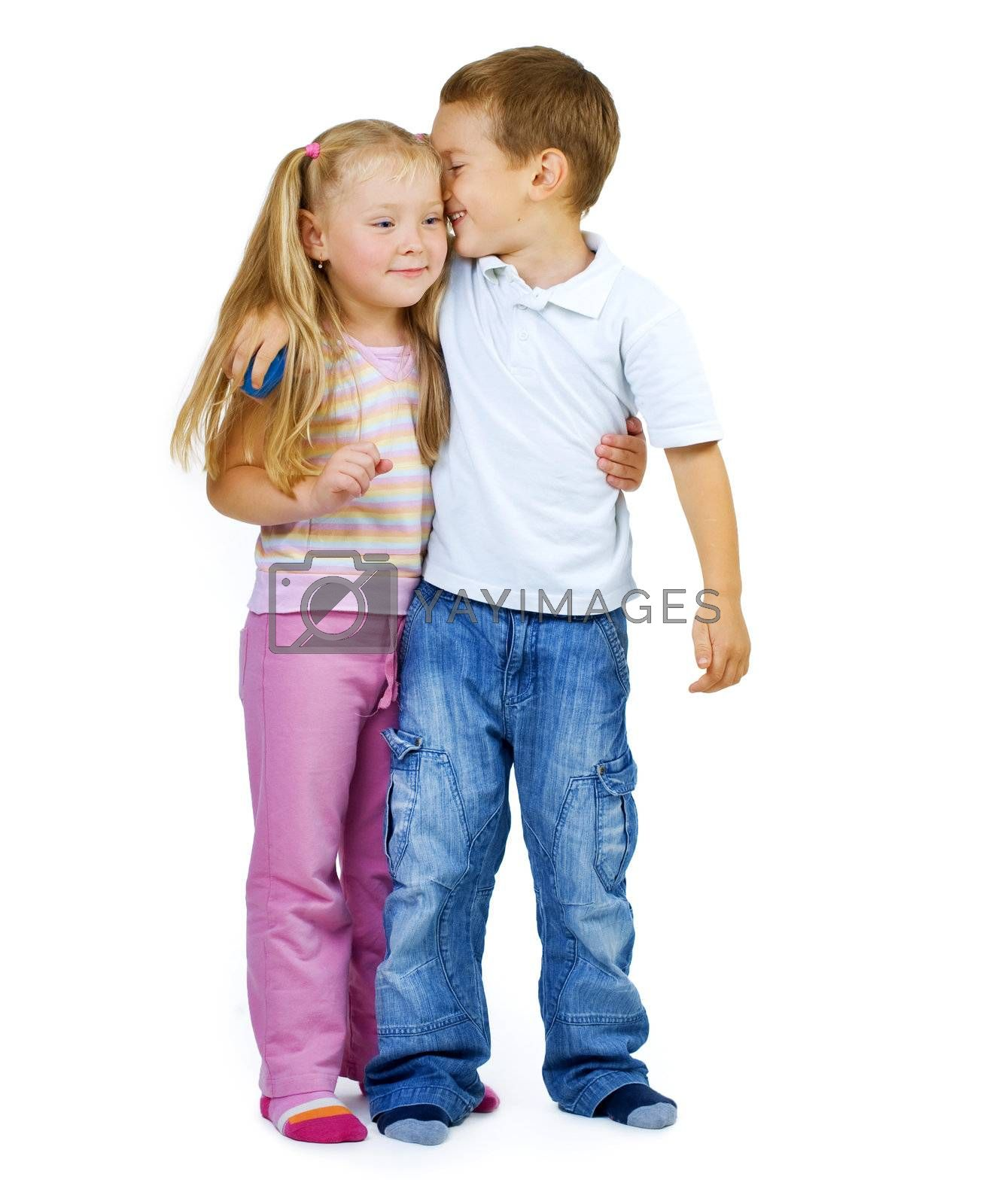 Kids.Little Boy and girl full-lenght portrait by Subbotina Anna