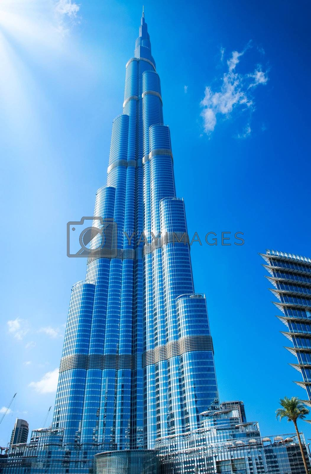 DUBAI, UAE. - NOVEMBER 29 : Burj Dubai - tallest building in the world, at 828m. on November 29, 2011 in Dubai, UAE. Day View from Downtown Dubai