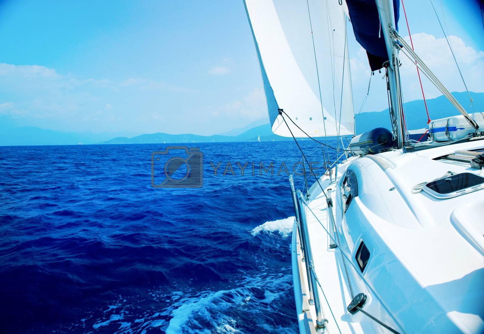 Travel .Luxury Yacht. Sailing by Subbotina Anna