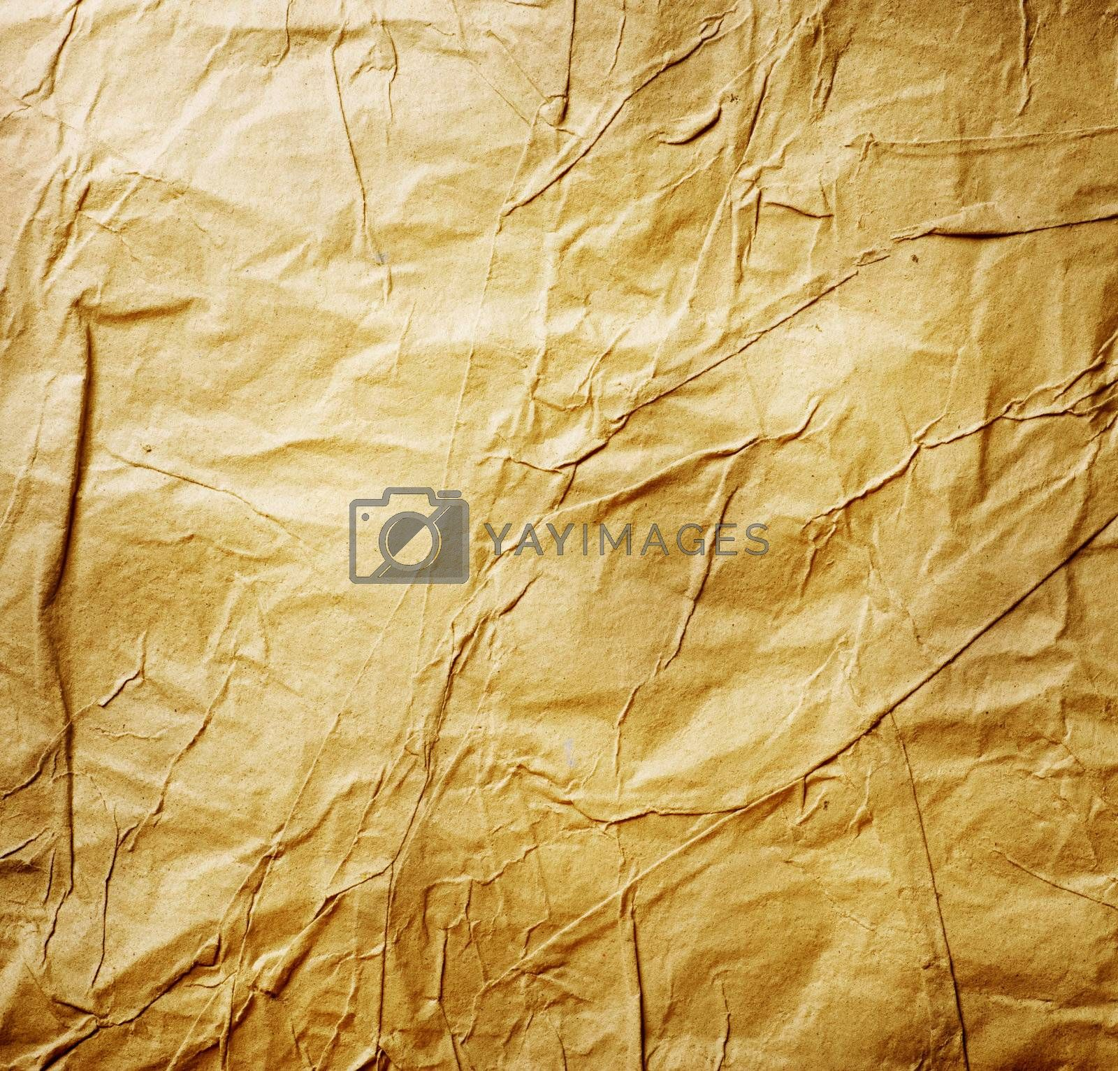 Old Crumpled Paper by Subbotina Anna
