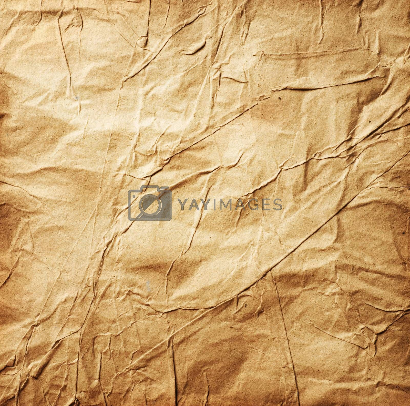 Paper. Old Crumpled Paper background by Subbotina Anna