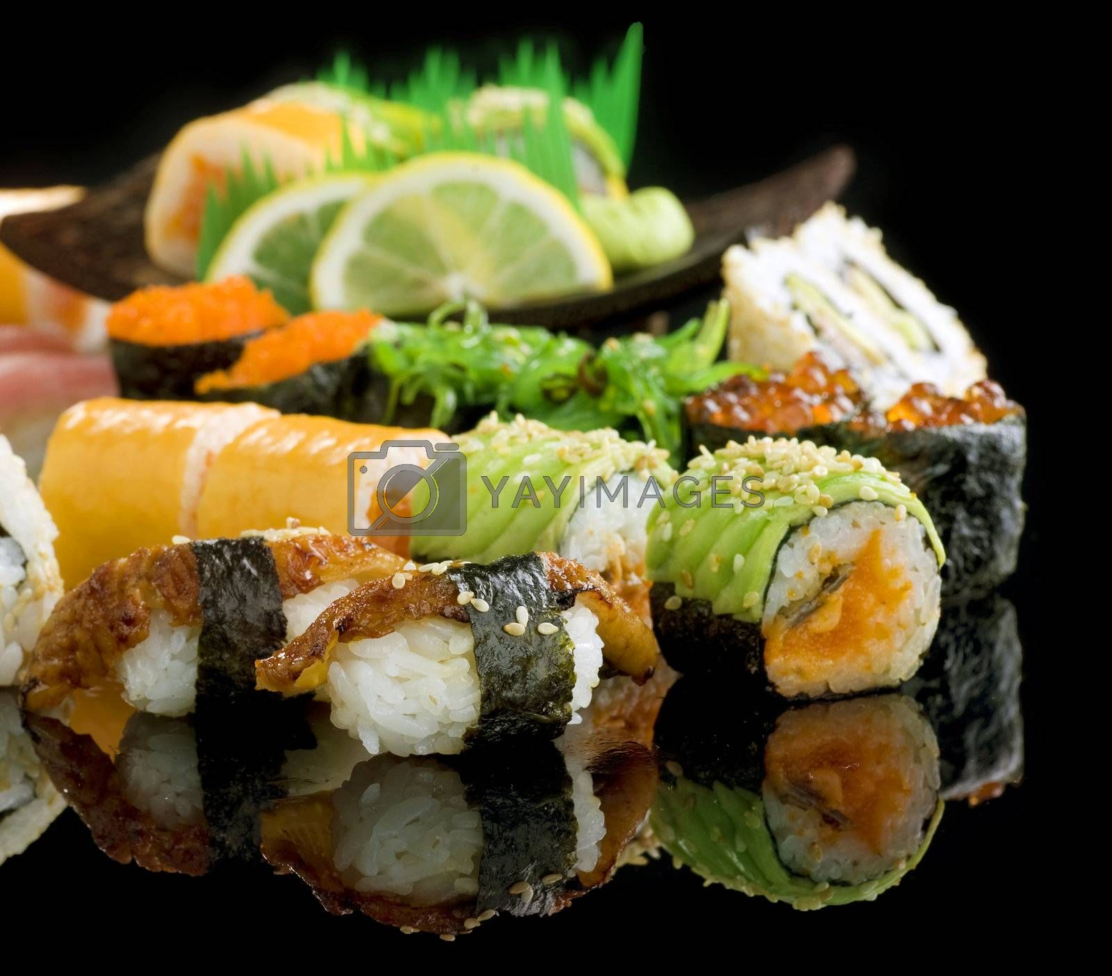 Sushi set by Subbotina Anna