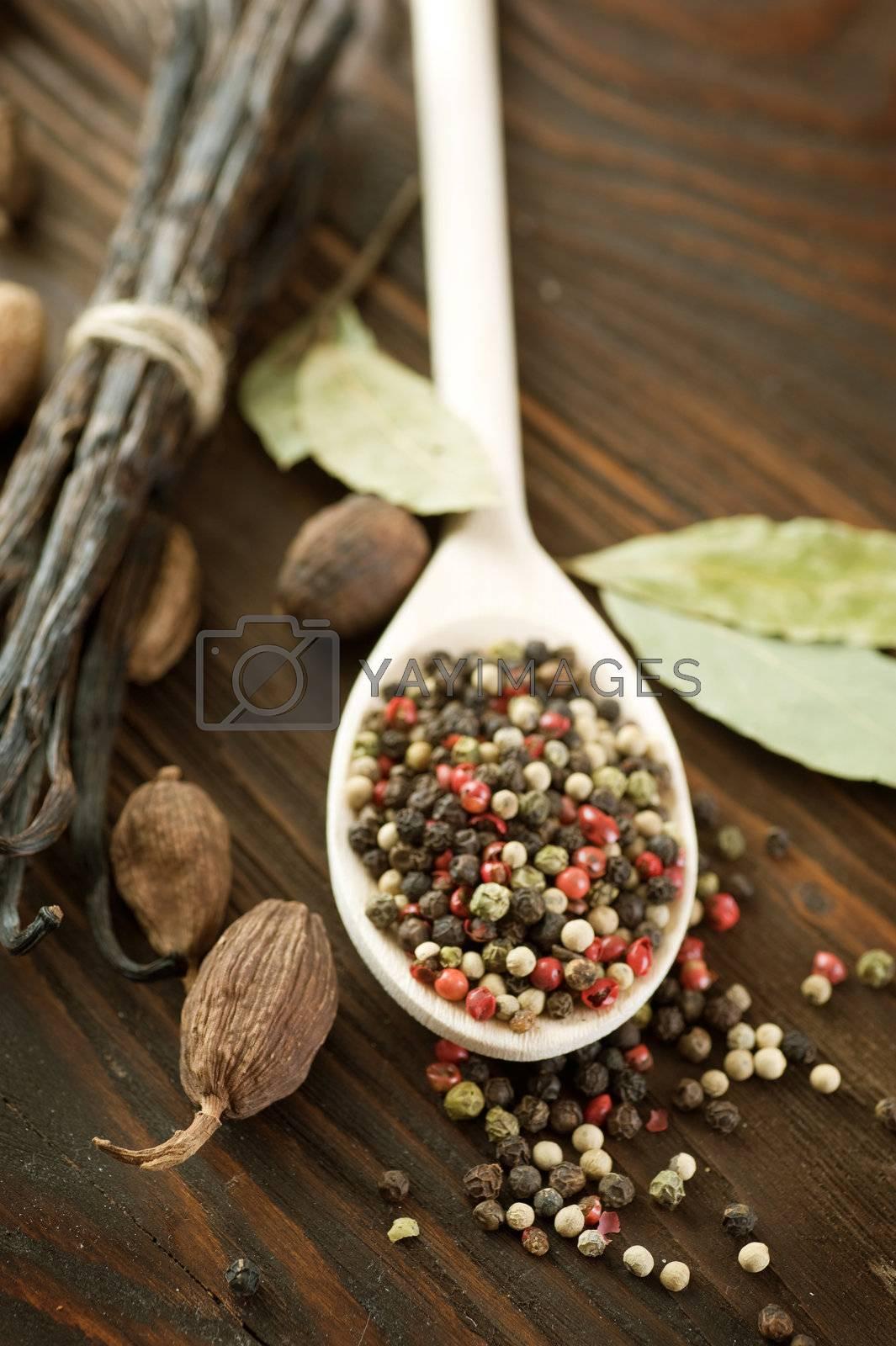 Spices Closeup by Subbotina Anna