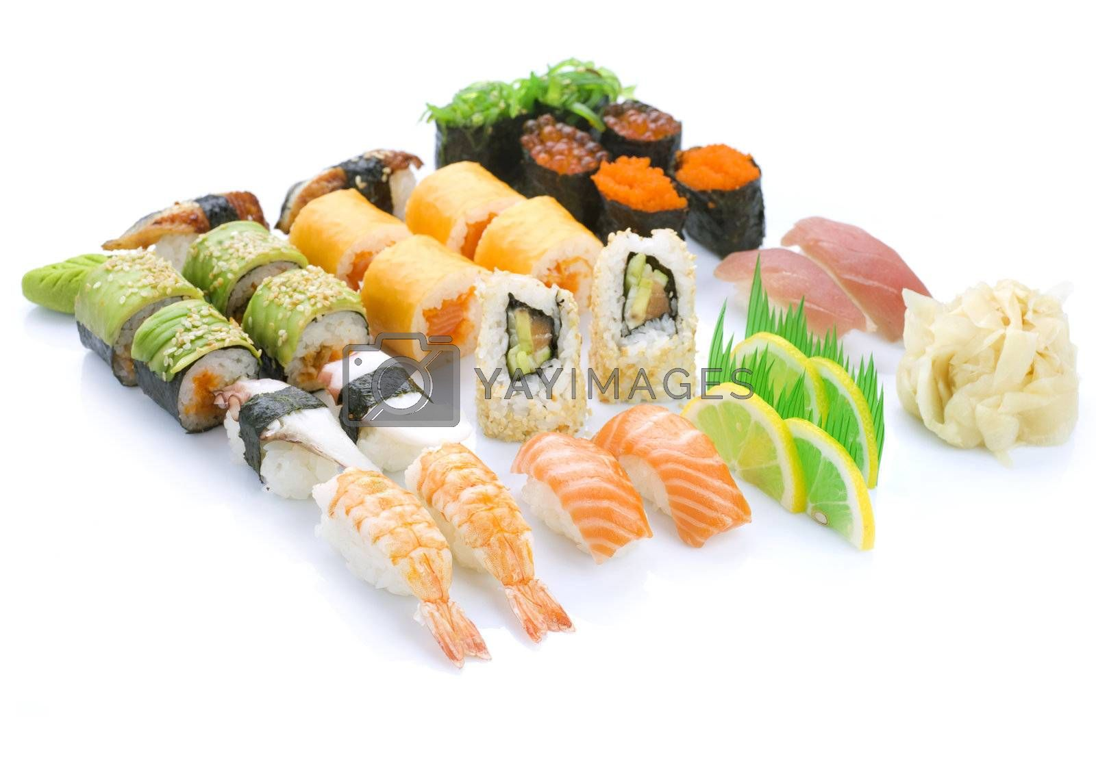 Different Sushi  by Subbotina Anna